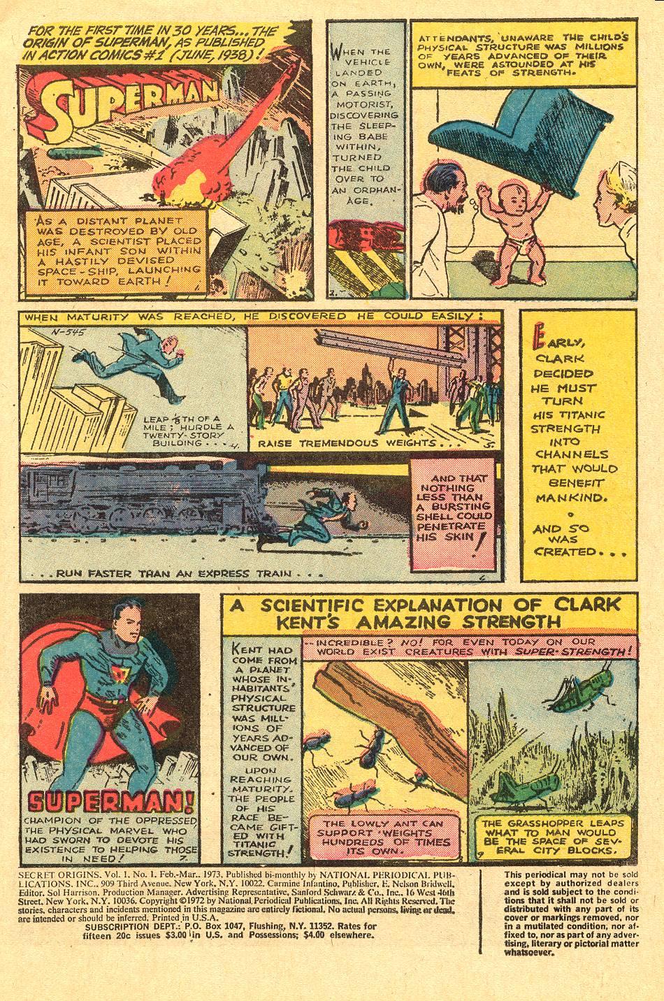 Read online Secret Origins (1973) comic -  Issue #1 - 3