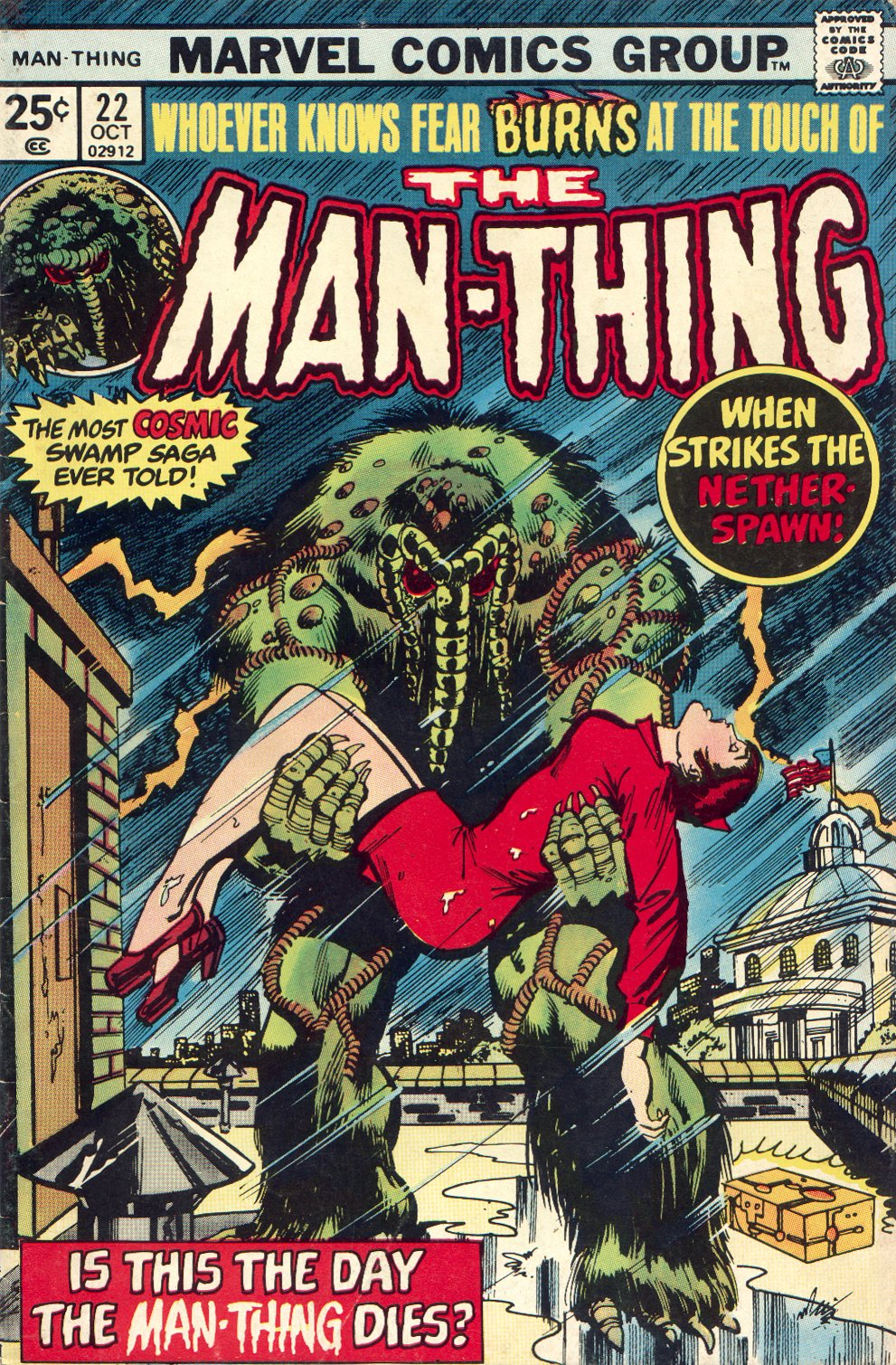 Man-Thing (1974) issue 22 - Page 1