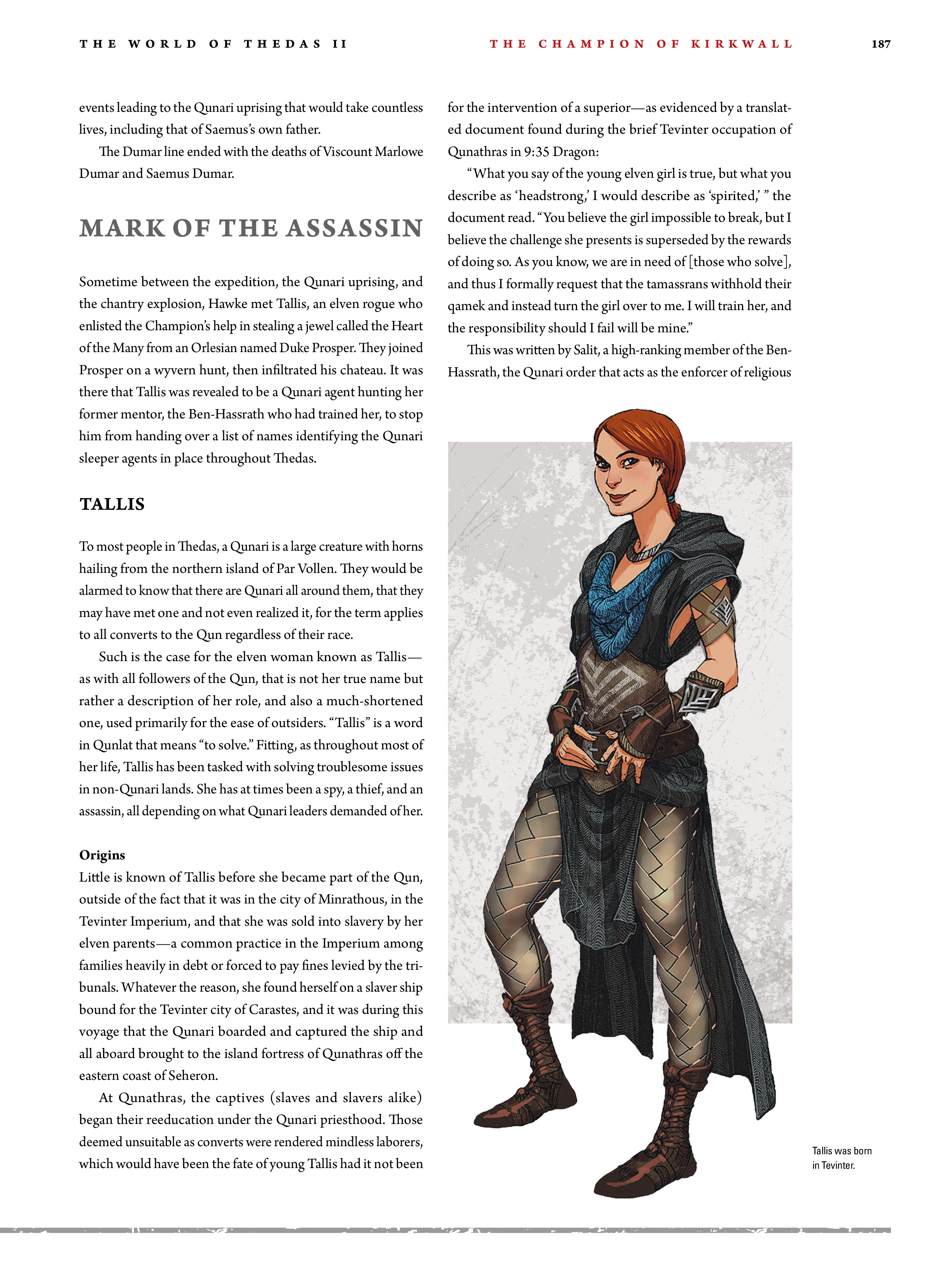 Read online Dragon Age: The World of Thedas comic -  Issue # TPB 2 - 182