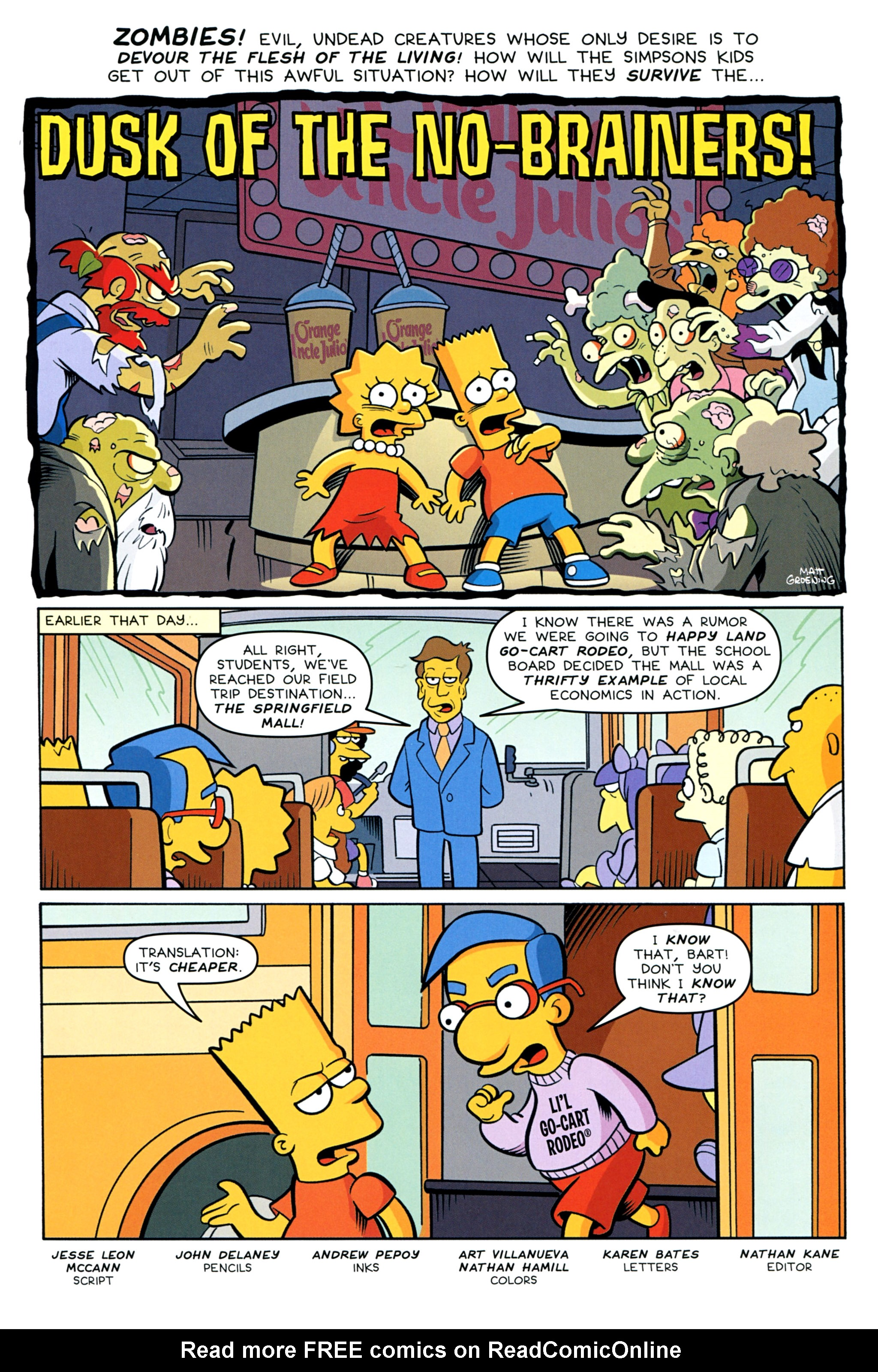 Read online Treehouse of Horror comic -  Issue #20 - 23