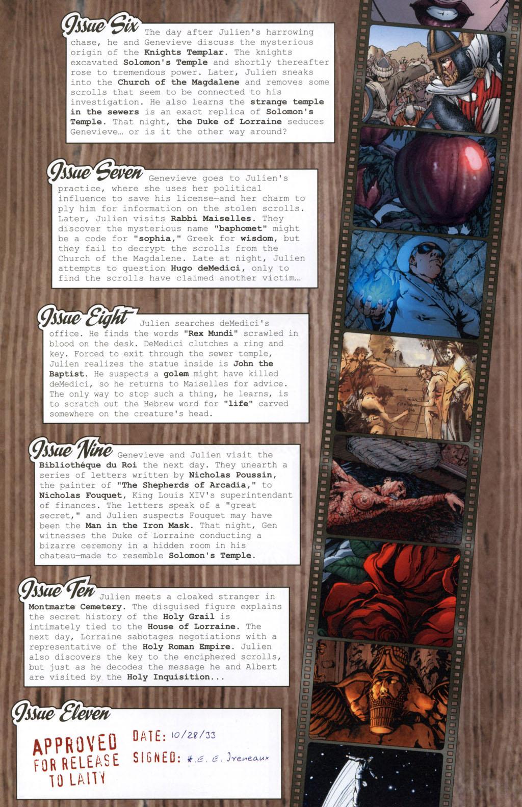 Read online Rex Mundi comic -  Issue #11 - 4