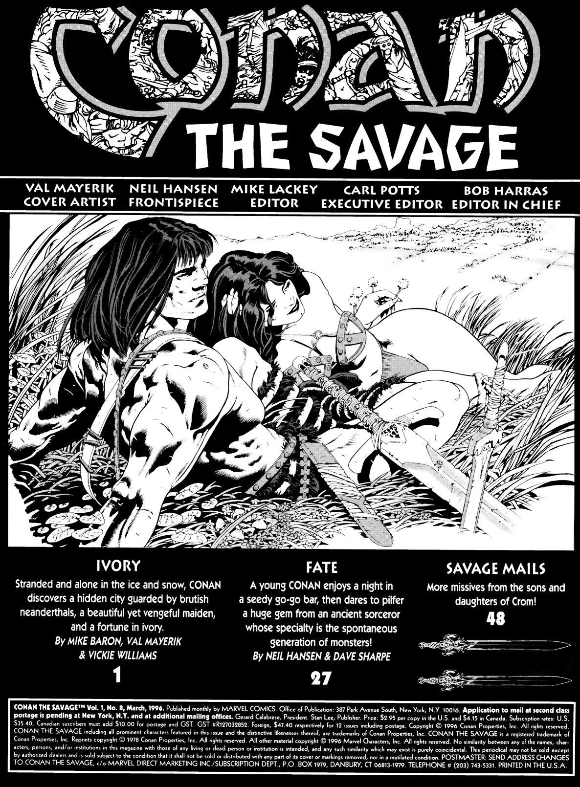 Conan the Savage 8 Page 2
