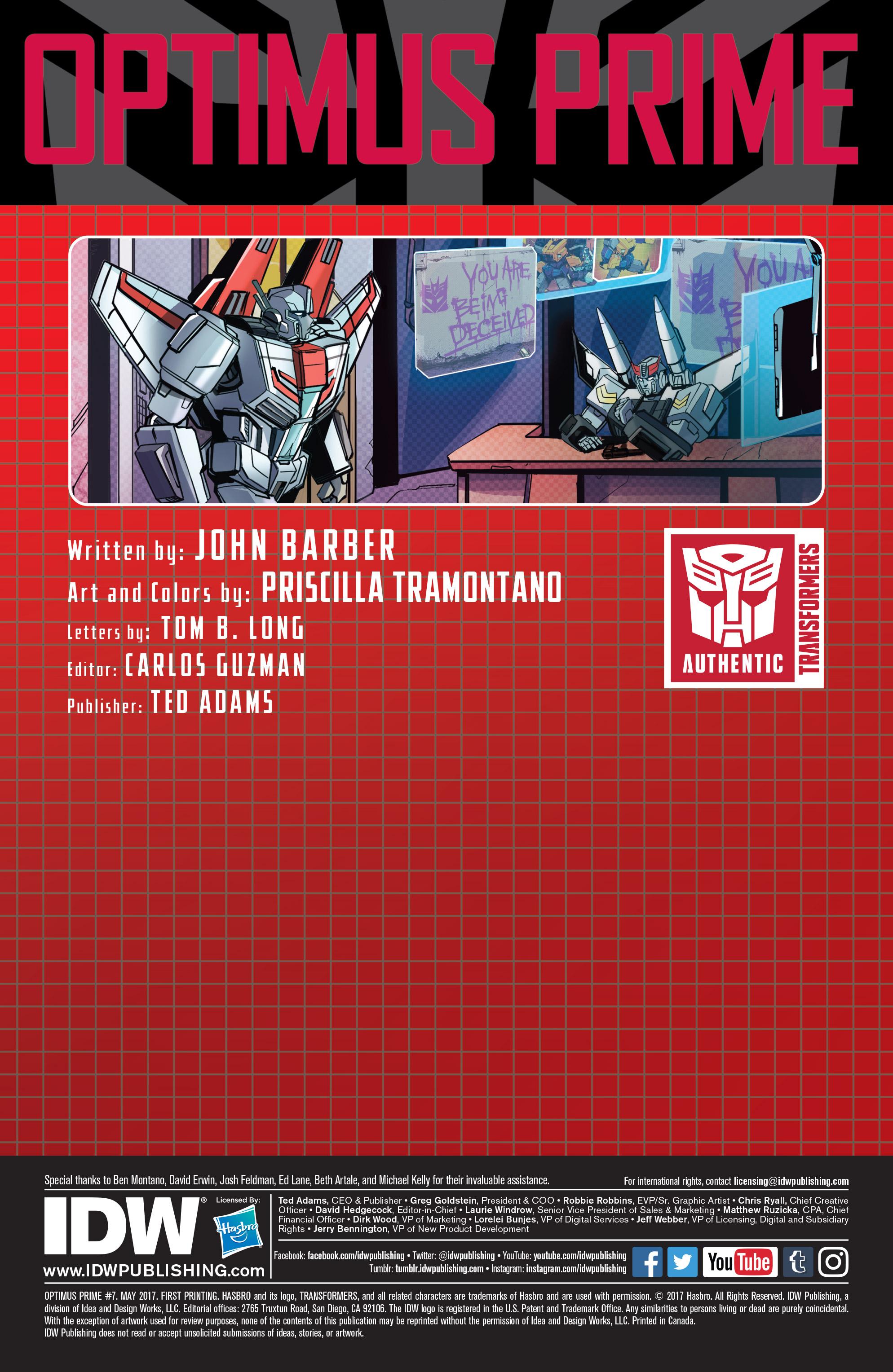 Read online Optimus Prime comic -  Issue #7 - 2