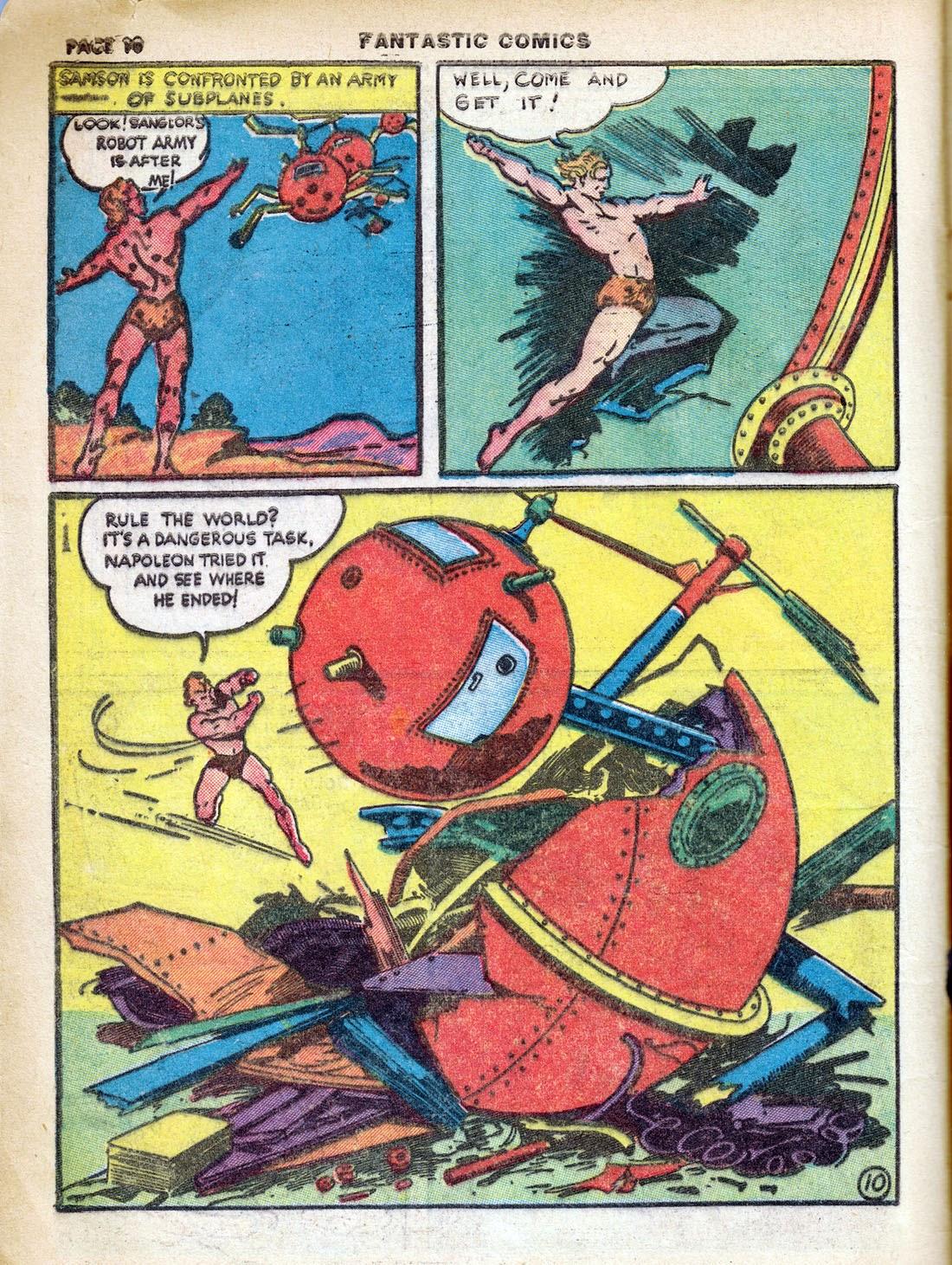 Read online Fantastic Comics comic -  Issue #7 - 12