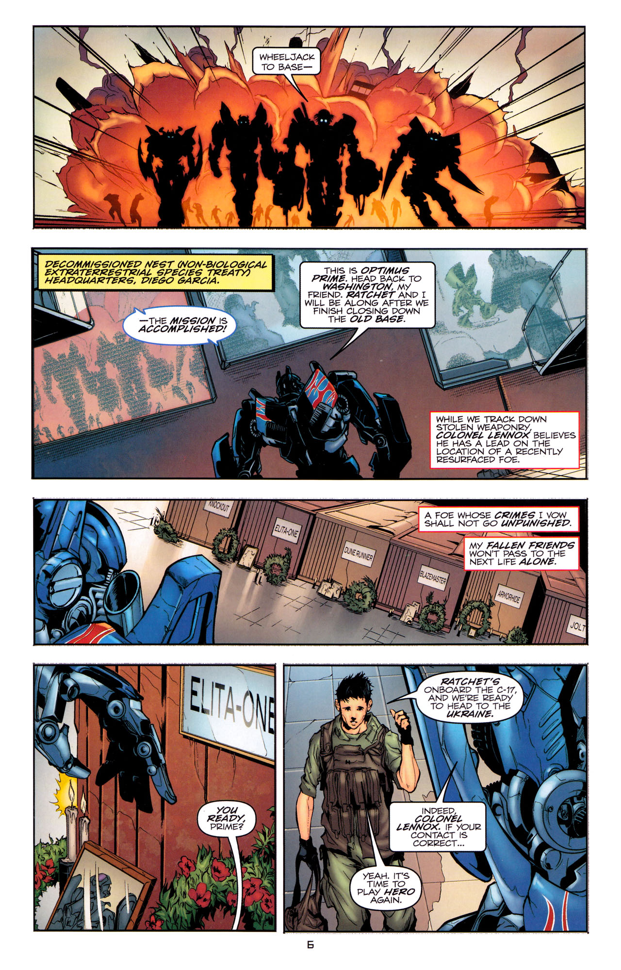 Read online Transformers: Dark of the Moon Movie Adaptation comic -  Issue #1 - 8
