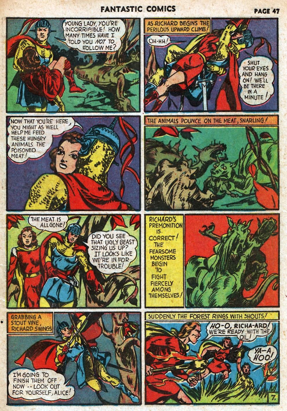 Read online Fantastic Comics comic -  Issue #18 - 49