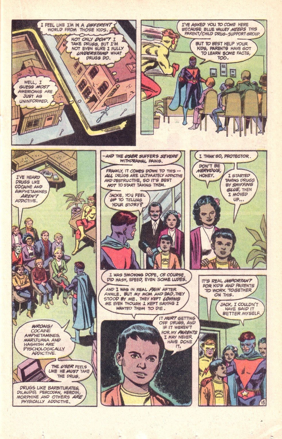 Read online The New Teen Titans (Drug Awareness Specials) comic -  Issue #1 - 17