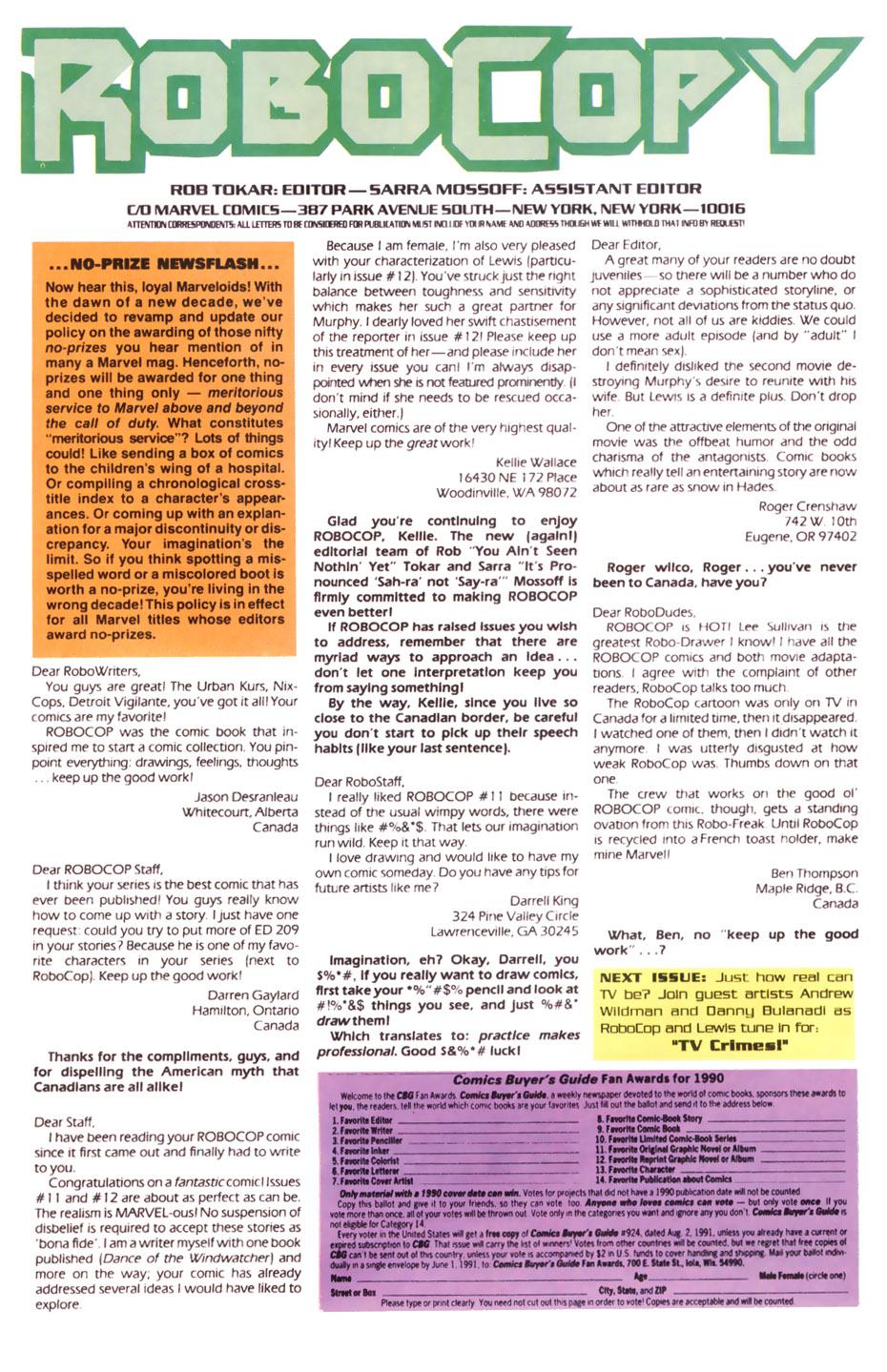 Read online Robocop (1990) comic -  Issue #15 - 24