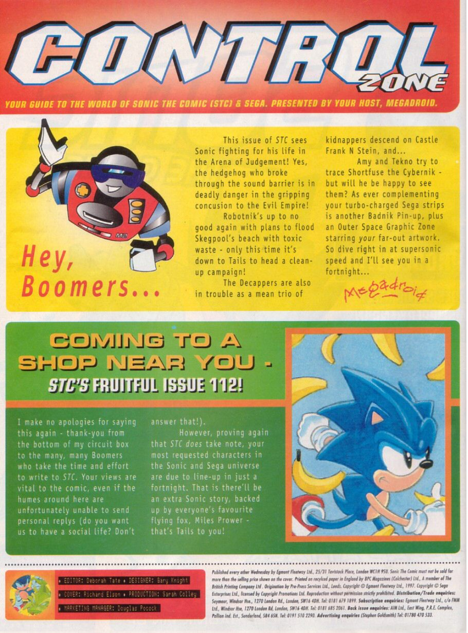 Read online Sonic the Comic comic -  Issue #111 - 2