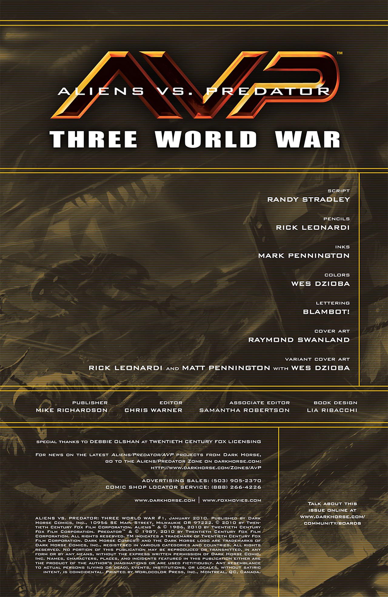 Read online Aliens vs. Predator: Three World War comic -  Issue #1 - 3