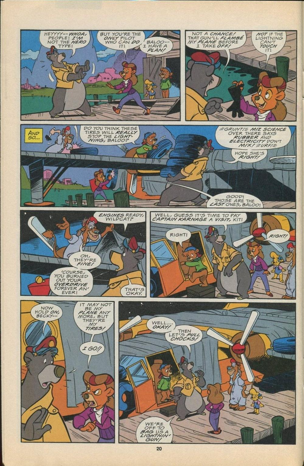 Read online Disney's Tale Spin Limited Series: ''Take Off'' comic -  Issue #4 - 21