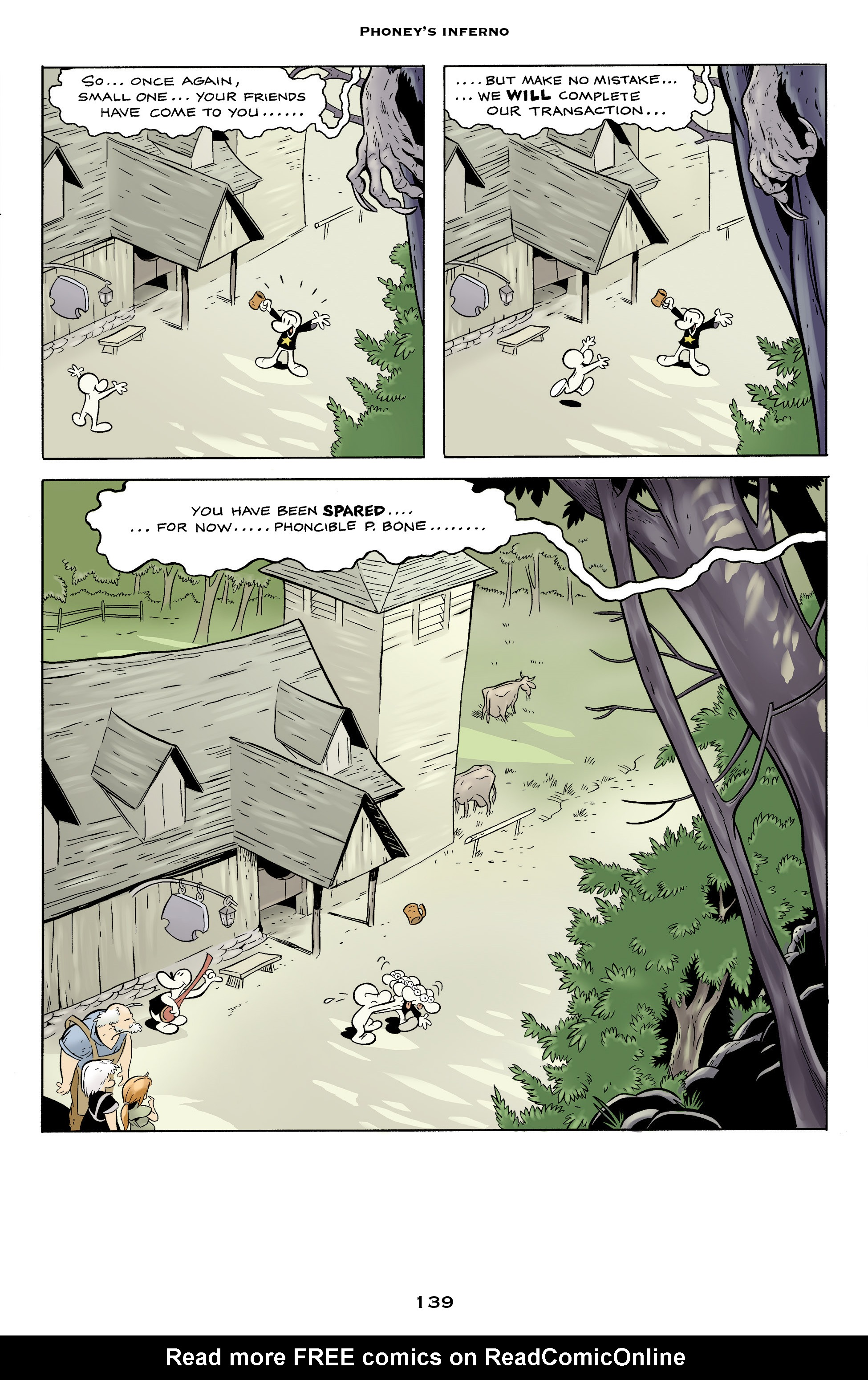 Read online Bone: Out From Boneville comic -  Issue # TPB - 139