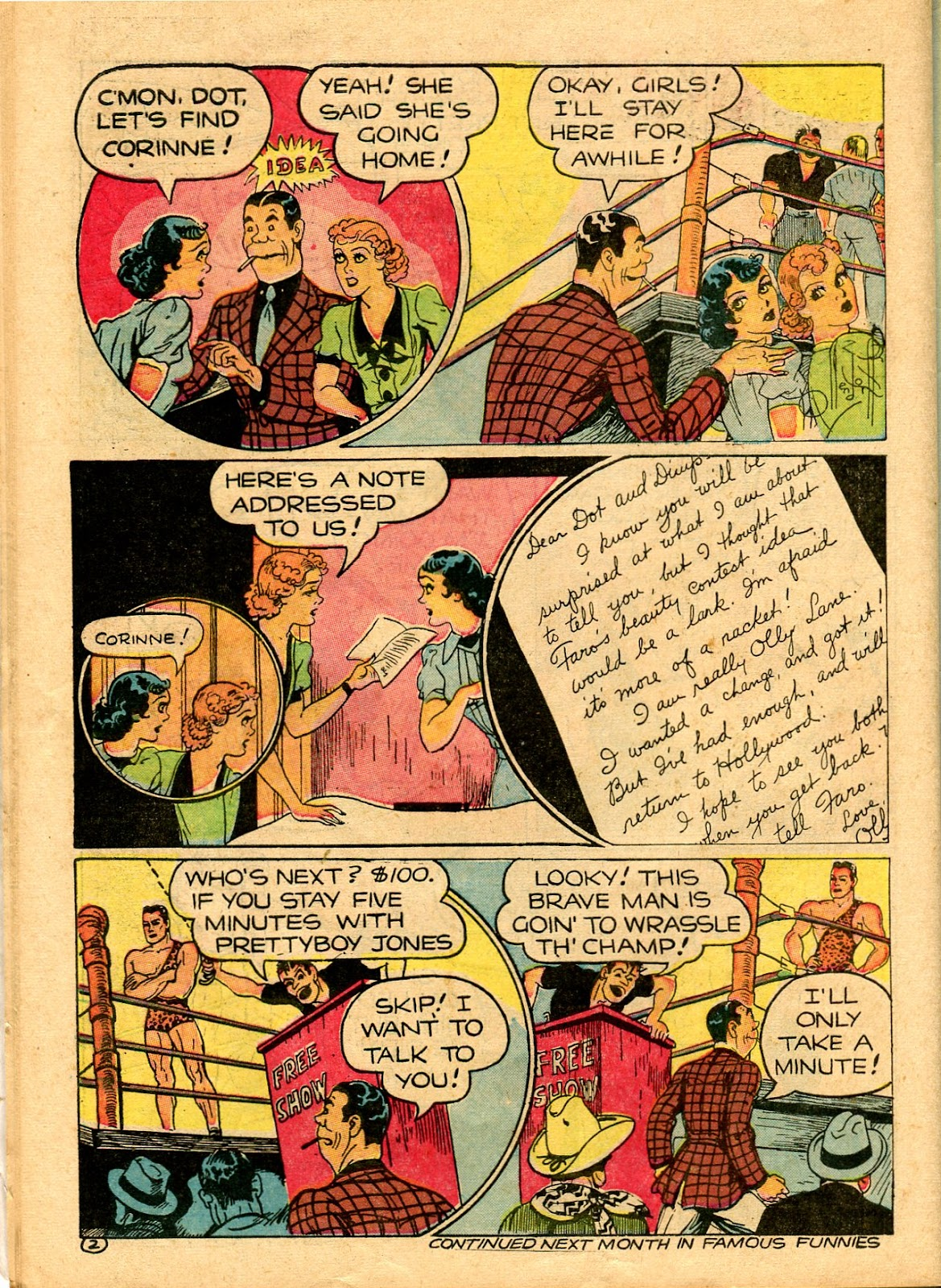 Read online Famous Funnies comic -  Issue #101 - 58