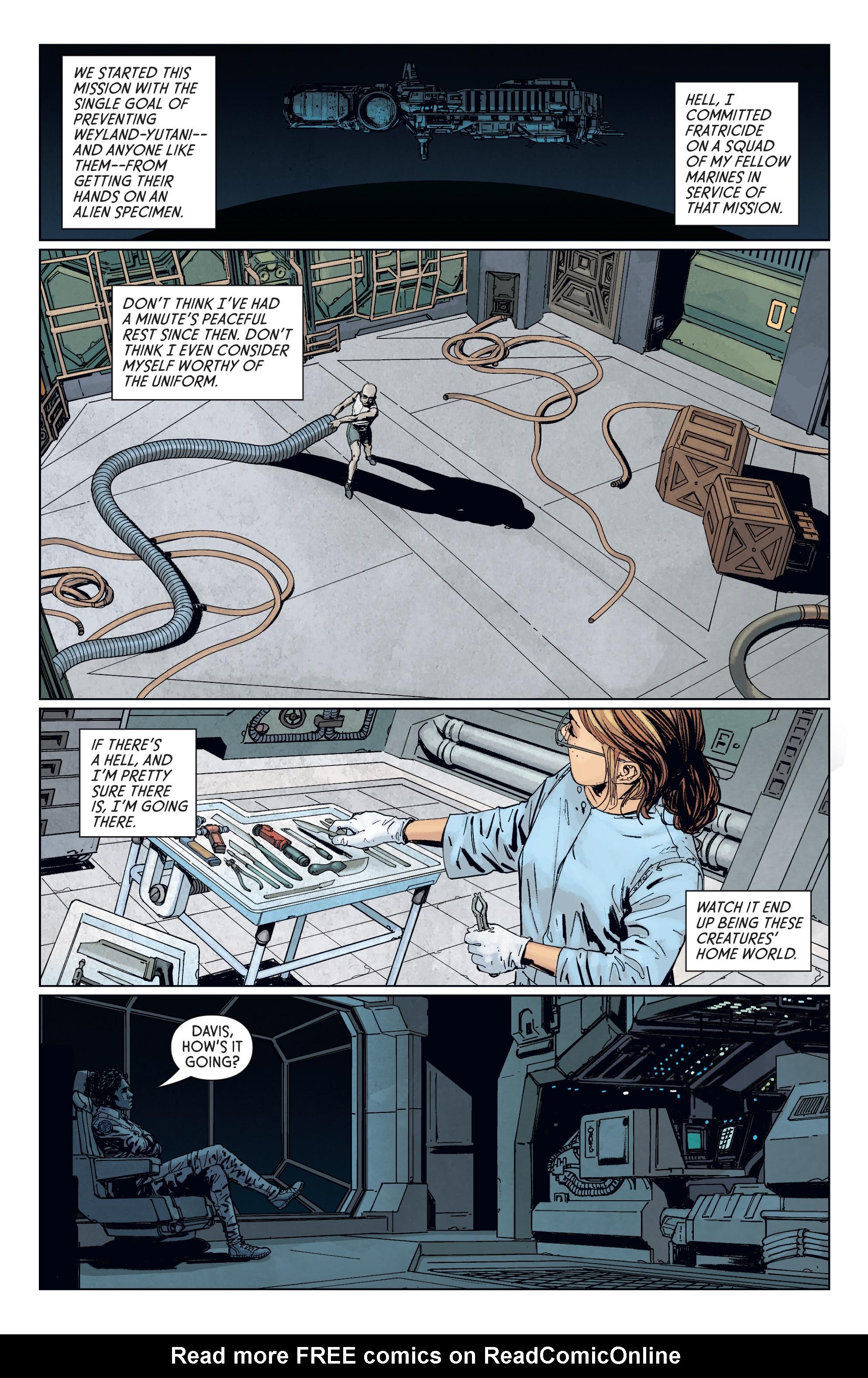 Read online Aliens: Defiance comic -  Issue #7 - 8