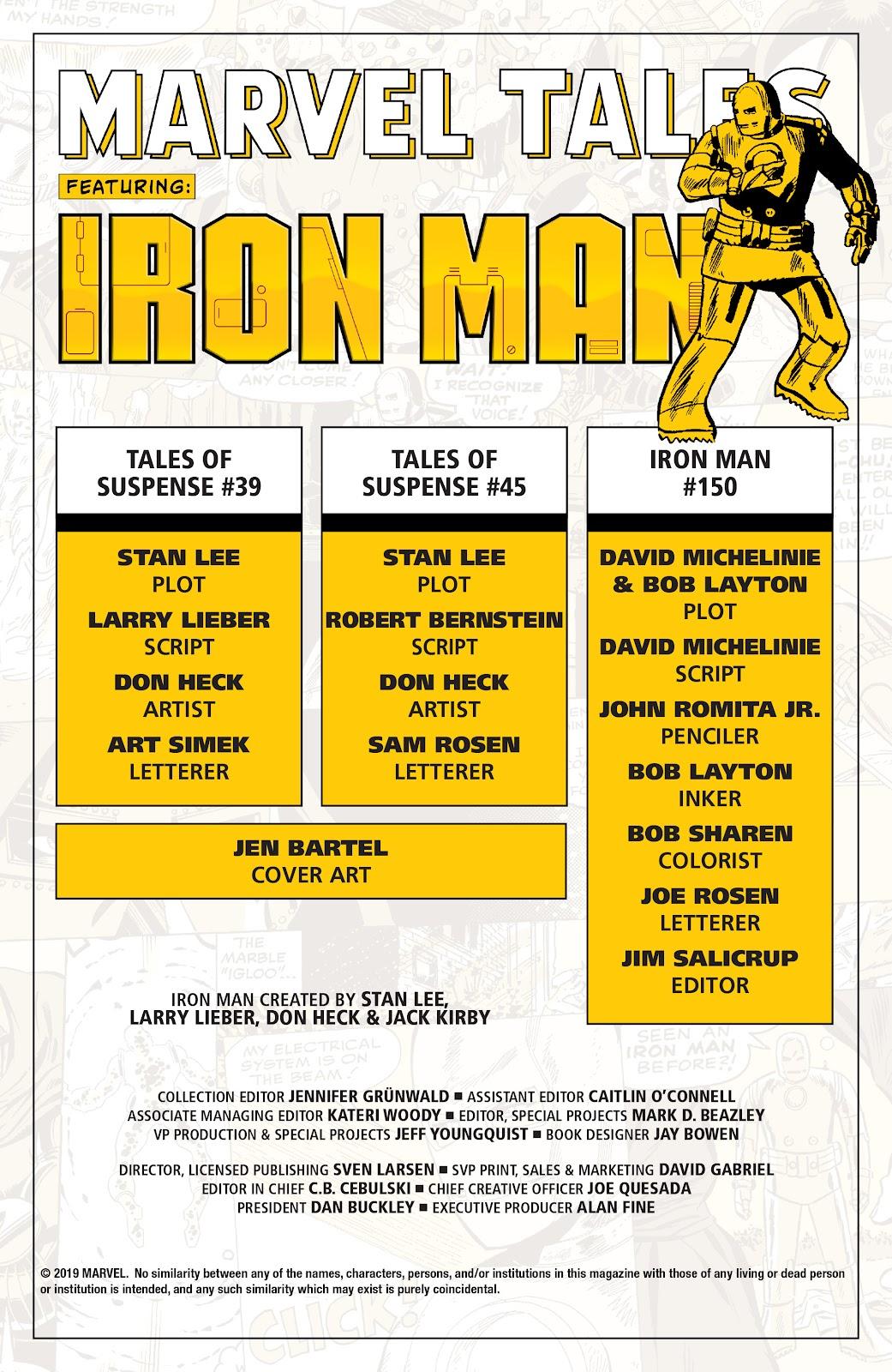 Read online Marvel Tales: Iron Man comic -  Issue # Full - 2