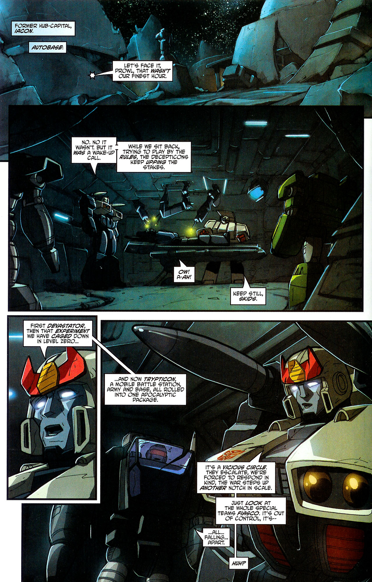 """Read online Transformers War Within: """"The Dark Ages"""" comic -  Issue #5 - 7"""