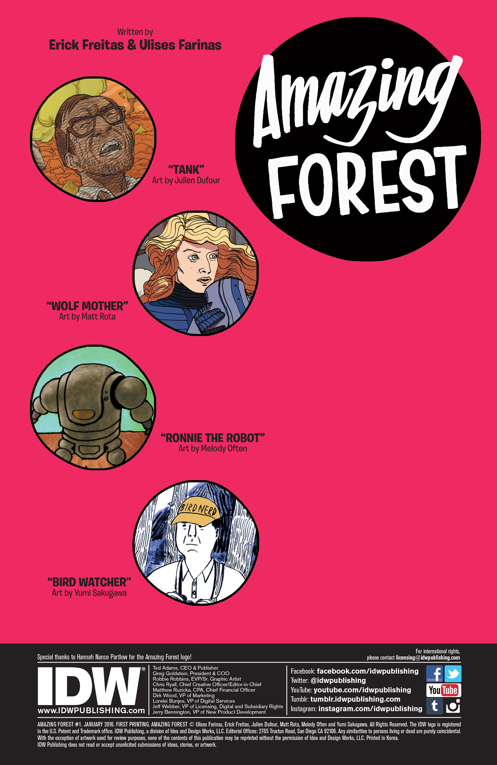 Read online Amazing Forest (2016) comic -  Issue #1 - 2