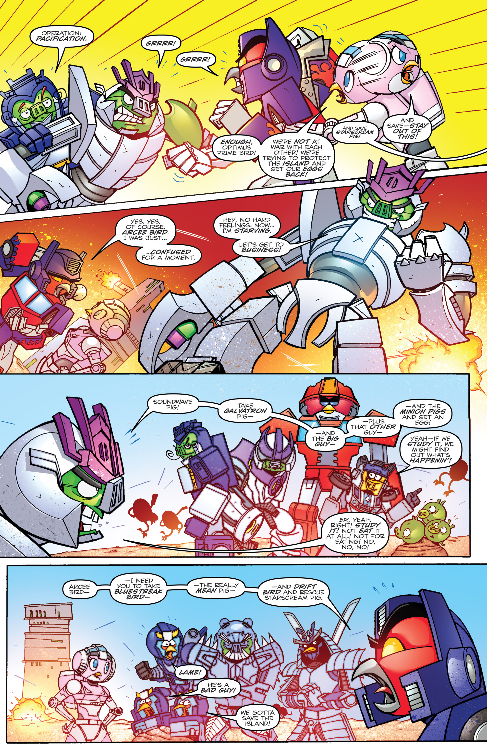 Read online Angry Birds Transformers comic -  Issue #3 - 7