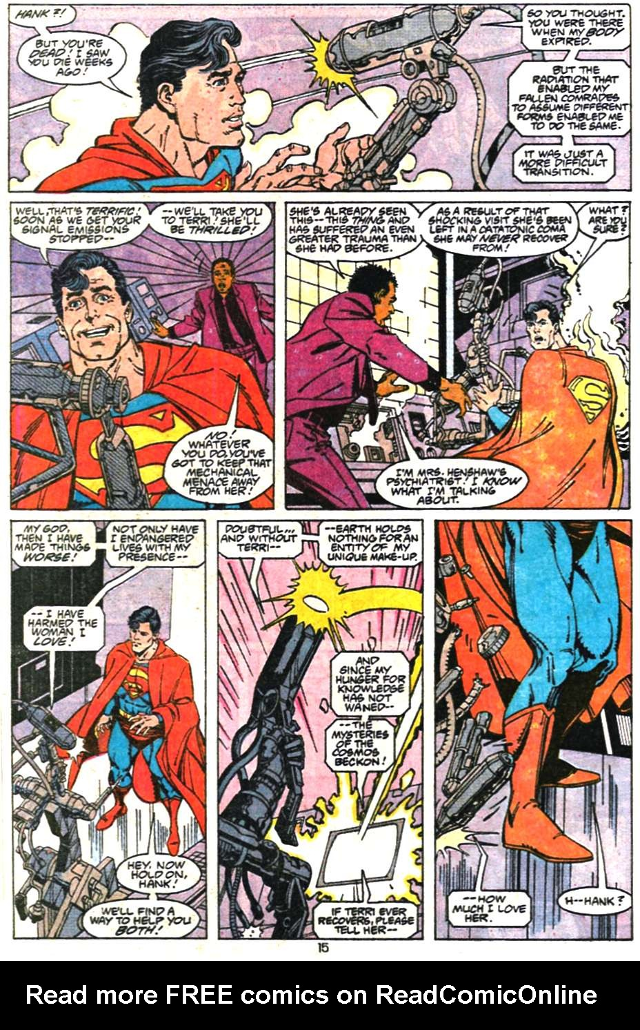 Read online Adventures of Superman (1987) comic -  Issue #468 - 16