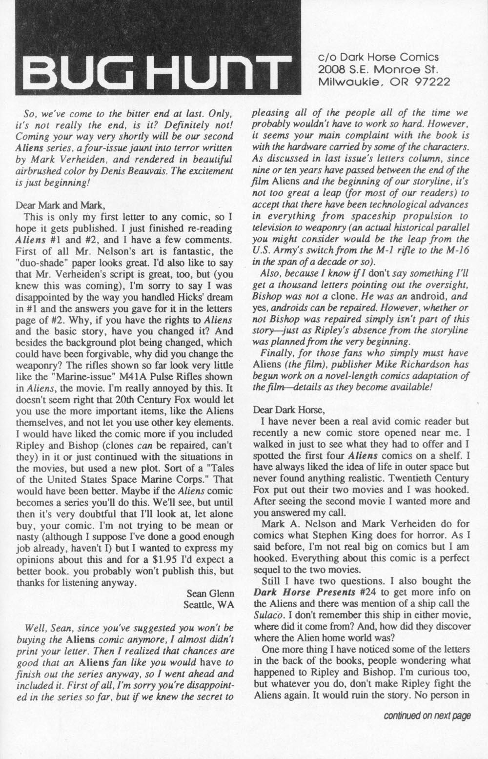 Read online Aliens (1988) comic -  Issue #6 - 30