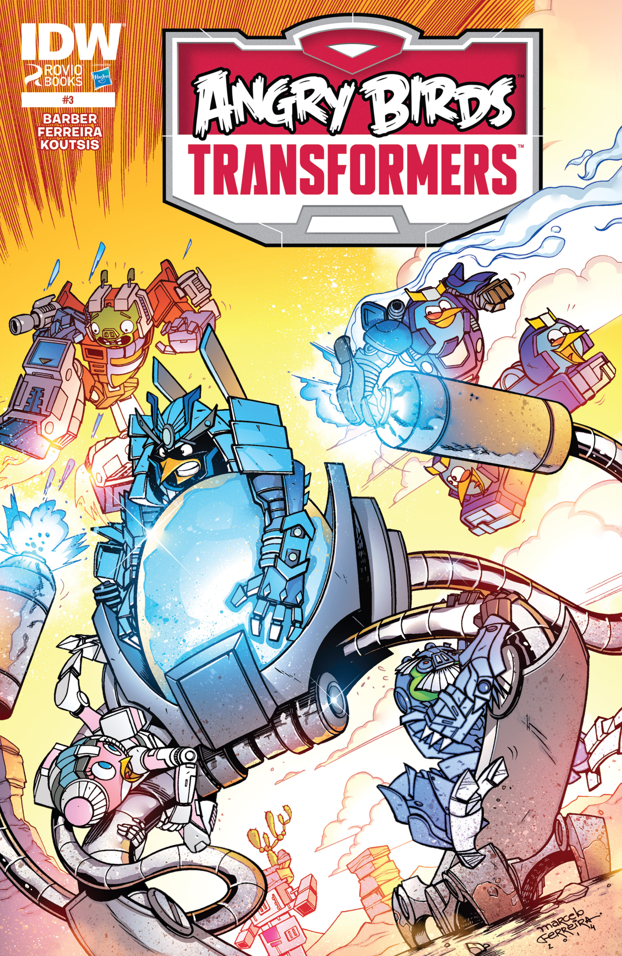 Read online Angry Birds Transformers comic -  Issue #3 - 1