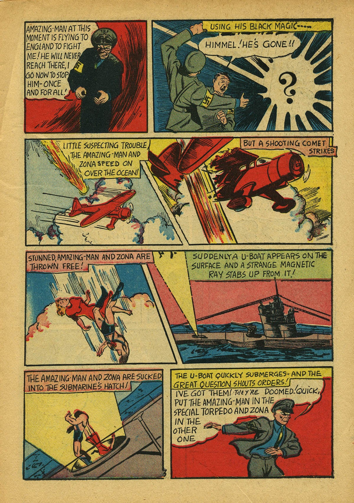 Read online Amazing Man Comics comic -  Issue #22 - 6