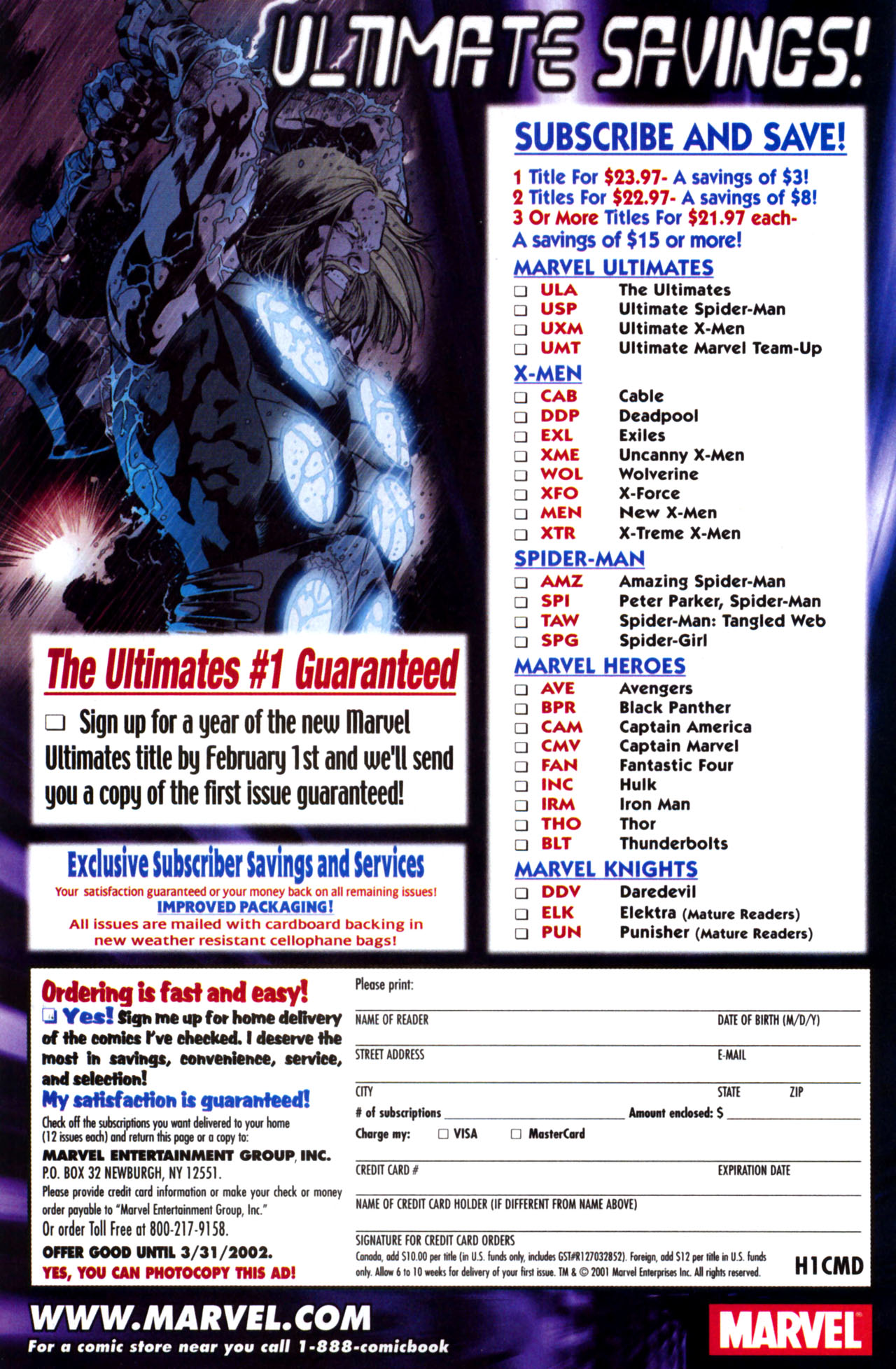 Read online Ultimate Marvel Team-Up comic -  Issue #10 - 23