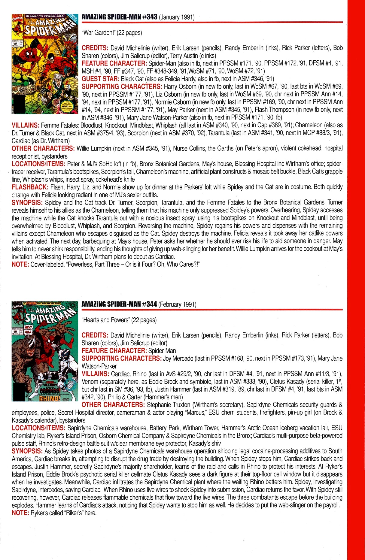 Read online Official Index to the Marvel Universe comic -  Issue #8 - 11