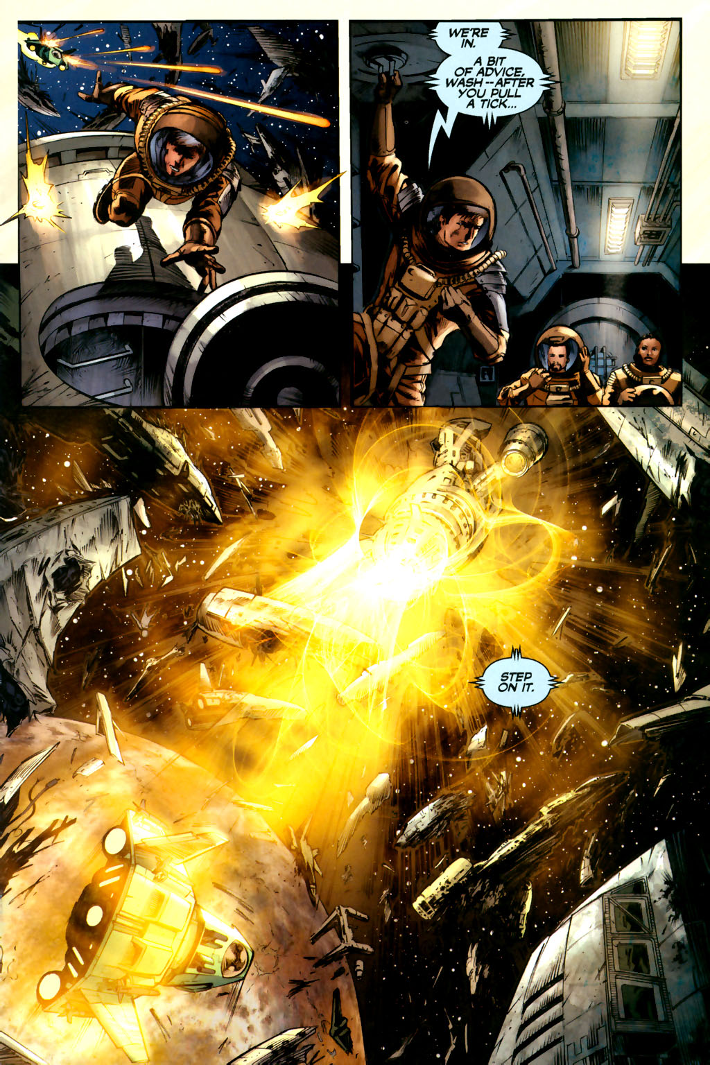 Read online Serenity comic -  Issue #3 - 21