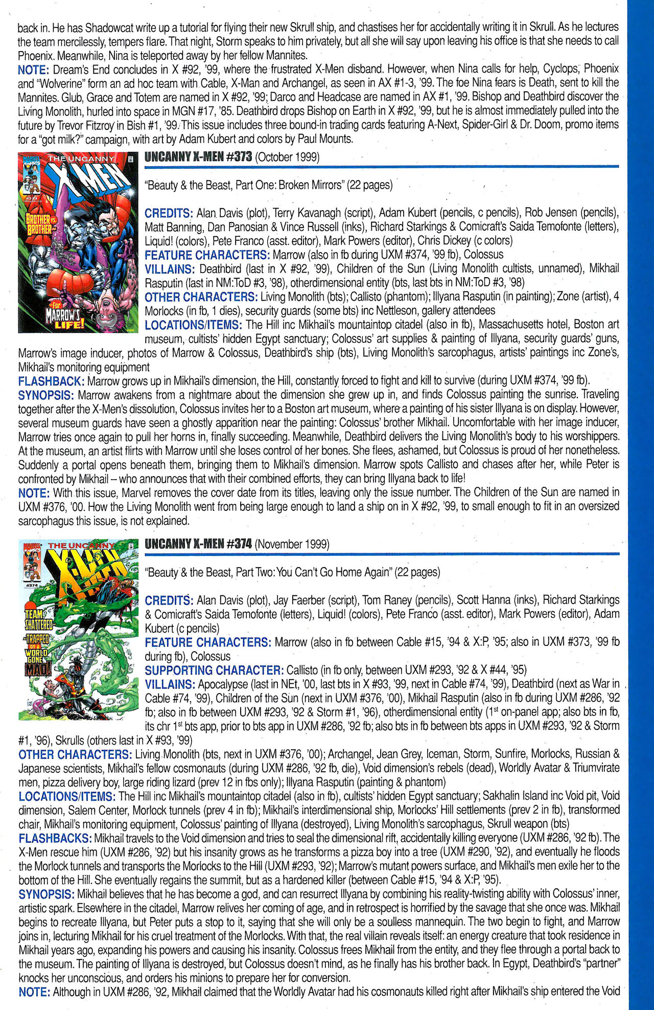 Read online Official Index to the Marvel Universe comic -  Issue #9 - 65