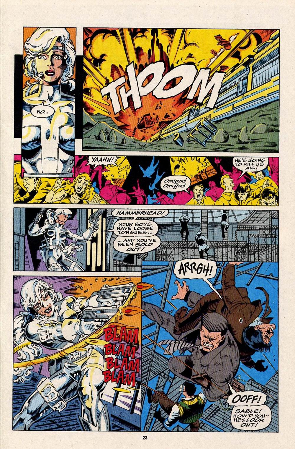 Read online Silver Sable and the Wild Pack comic -  Issue #32 - 19