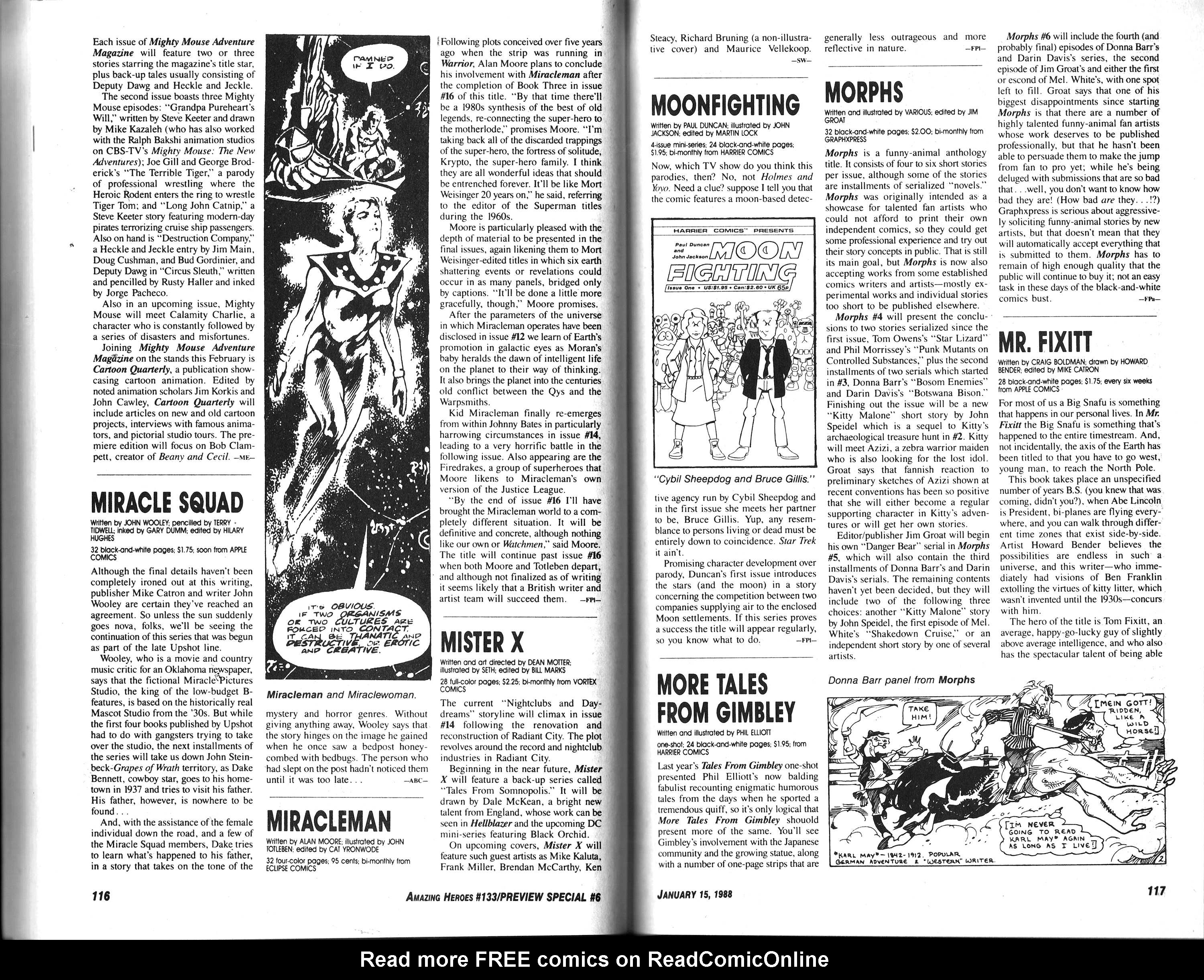 Read online Amazing Heroes comic -  Issue #133 - 60