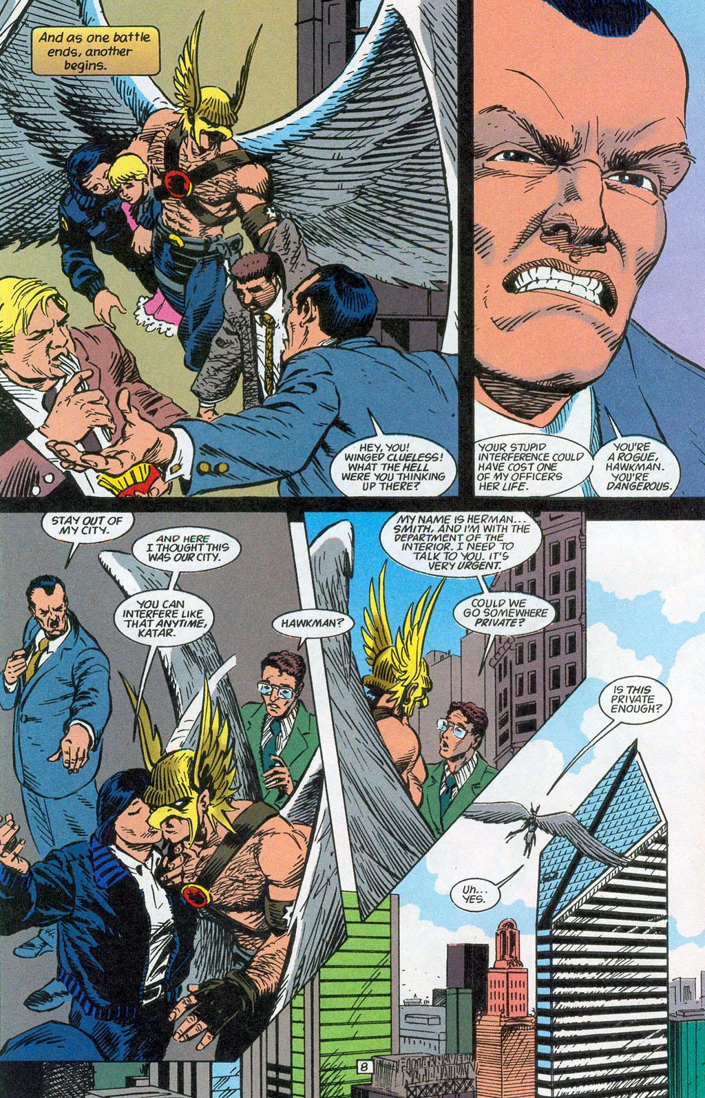Hawkman (1993) Issue #24 #27 - English 10