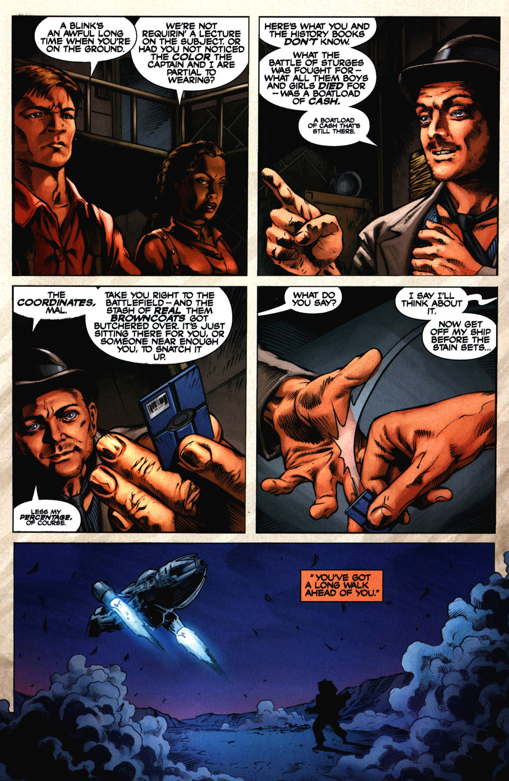 Read online Serenity comic -  Issue #2 - 17