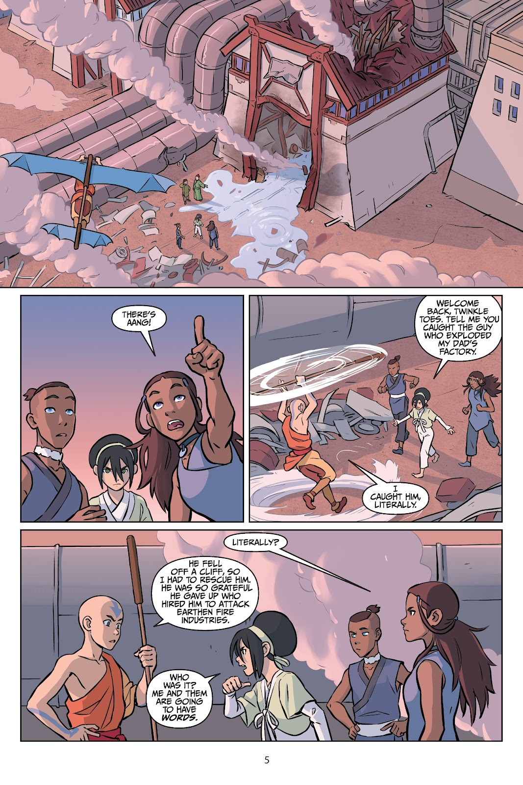 Read online Nickelodeon Avatar: The Last Airbender - Imbalance comic -  Issue # TPB 2 - 6