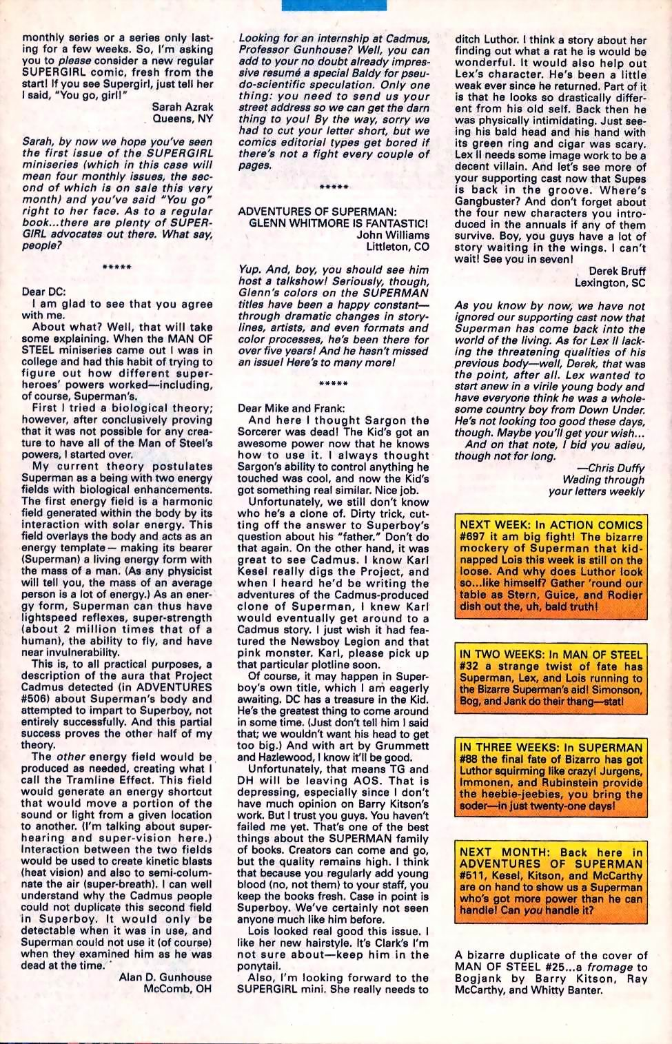 Read online Adventures of Superman (1987) comic -  Issue #510 - 25