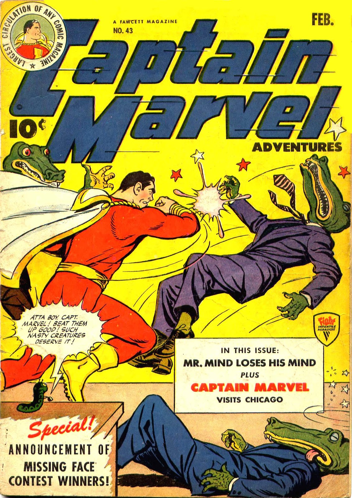 Captain Marvel Adventures 43 Page 1