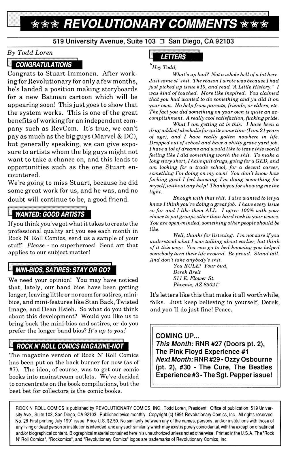 Rock N Roll Comics 28 Page 2