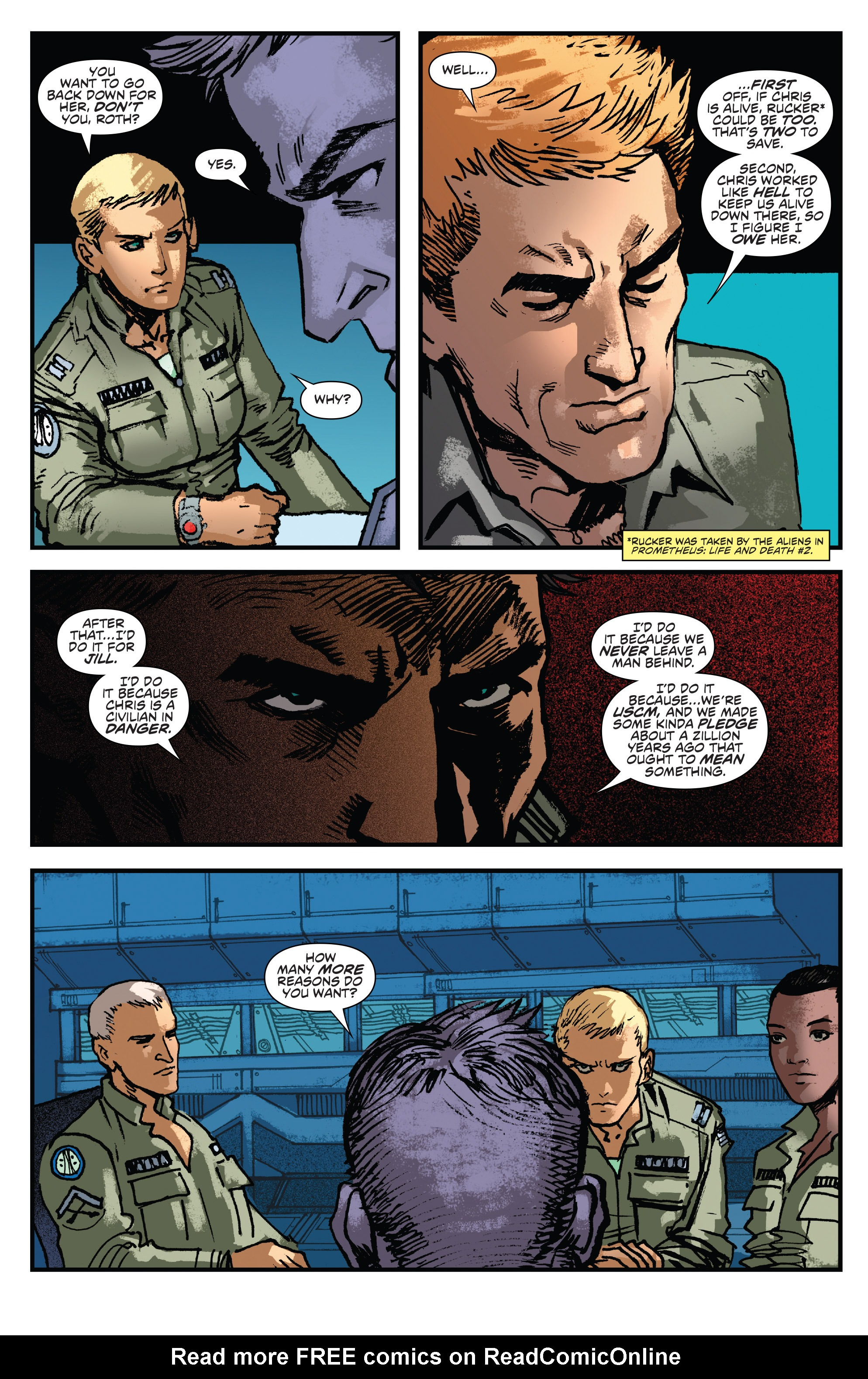 Read online Aliens: Life And Death comic -  Issue #2 - 5