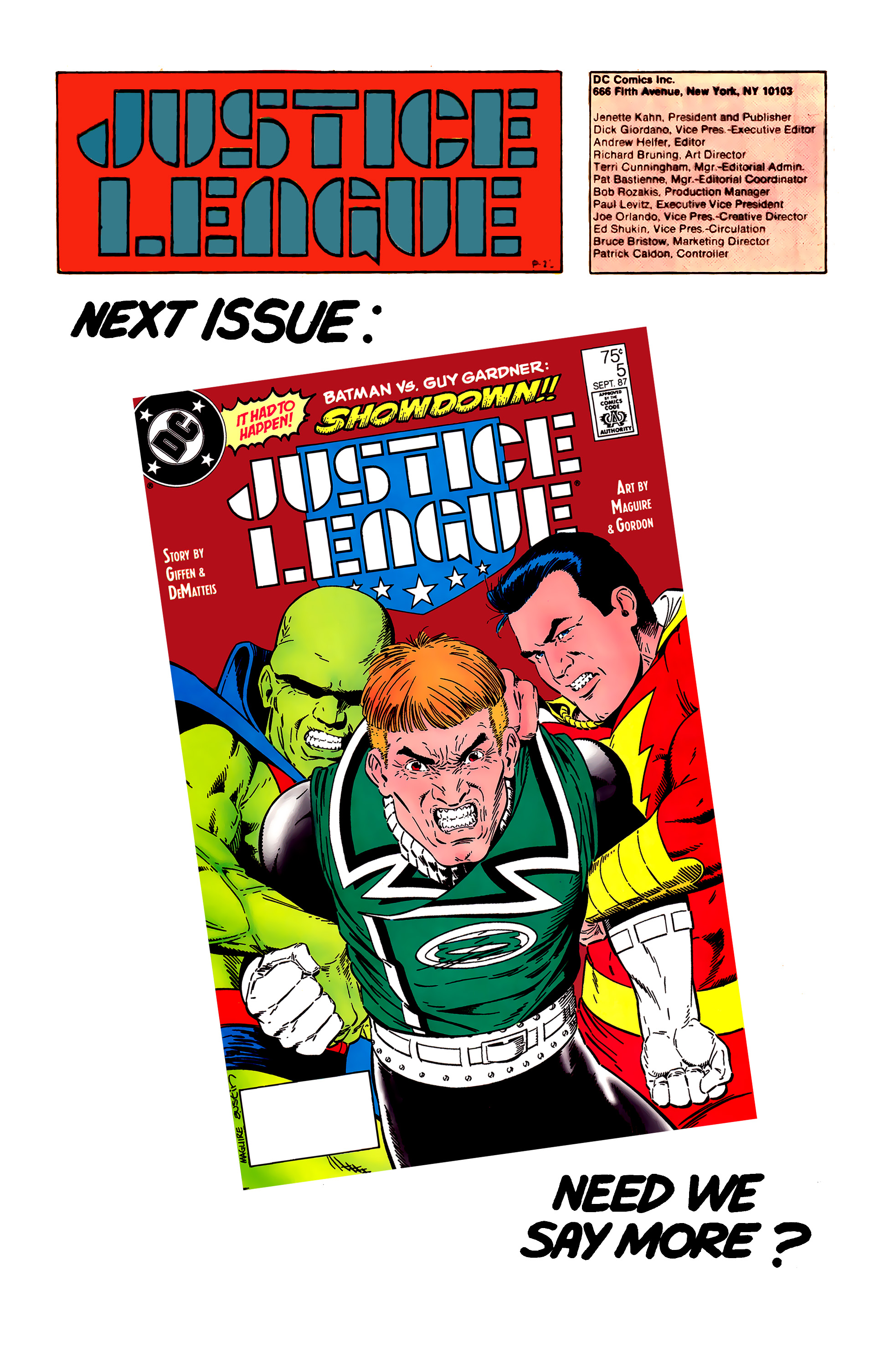 Read online Justice League (1987) comic -  Issue #4 - 24