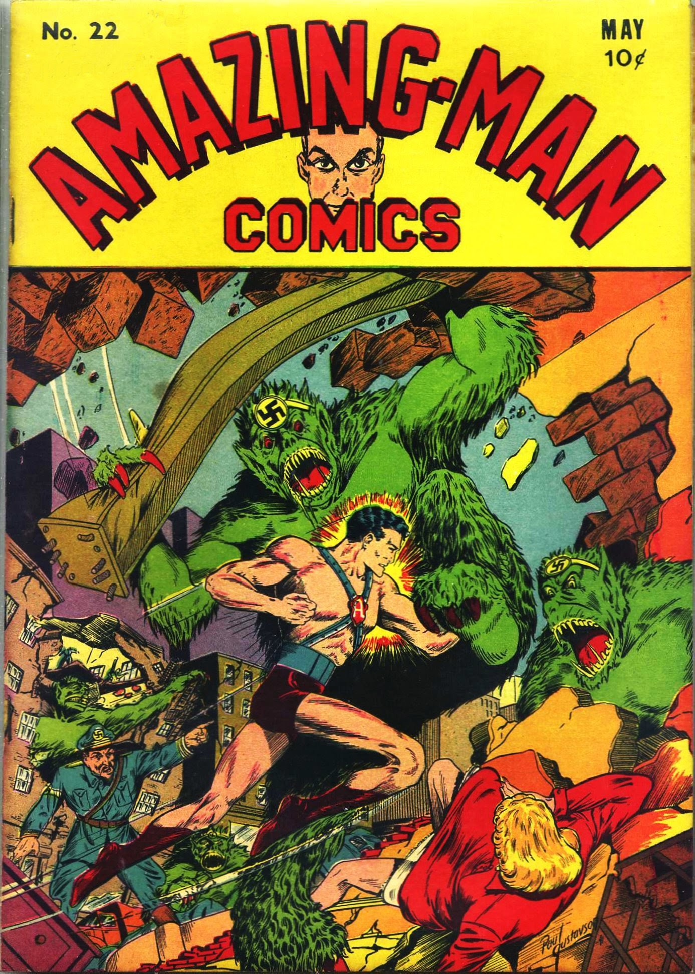 Read online Amazing Man Comics comic -  Issue #22 - 2