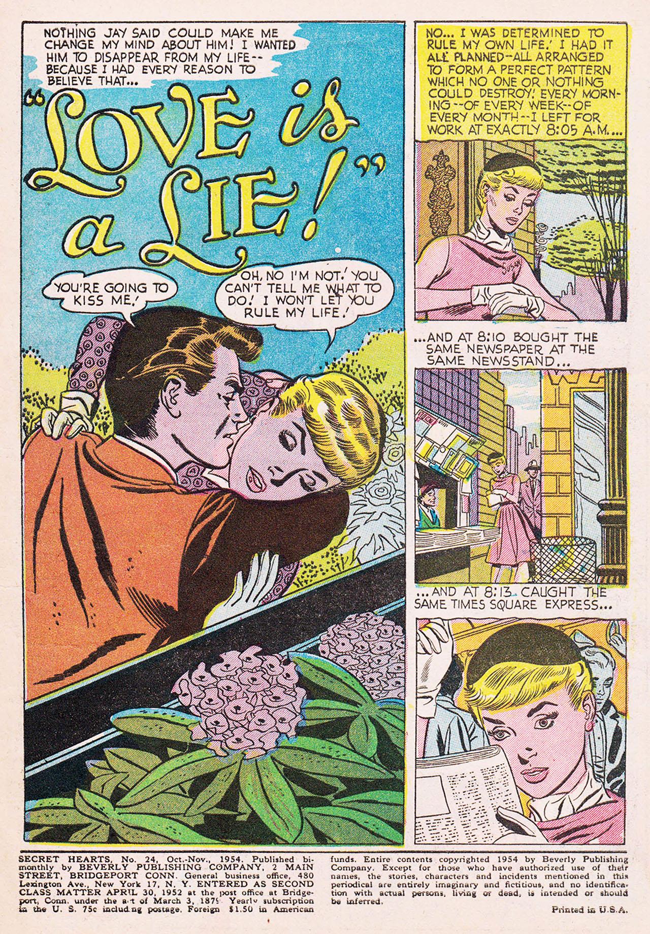 Read online Secret Hearts comic -  Issue #24 - 3