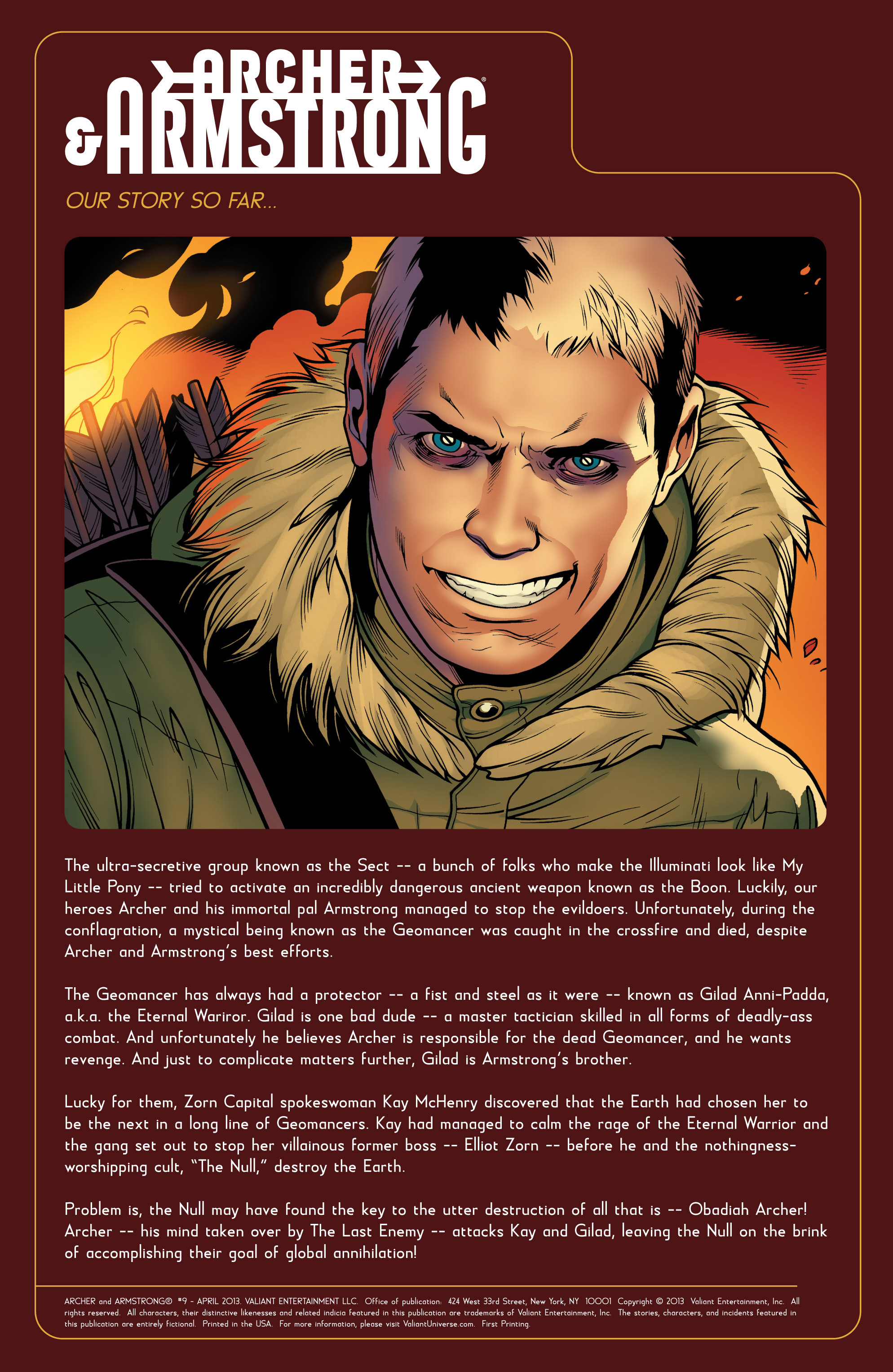 Read online Archer and Armstrong comic -  Issue #9 - 2