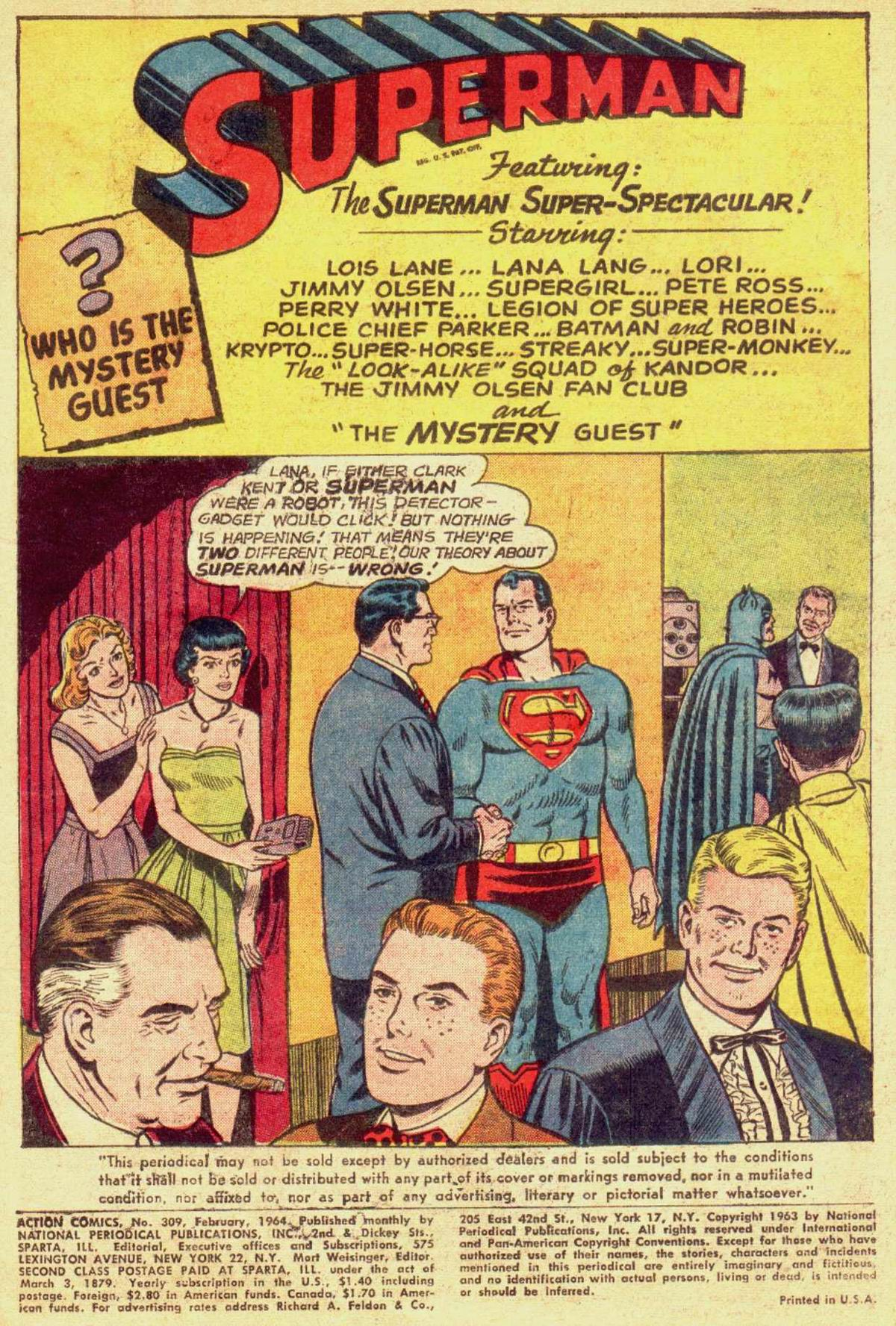 Read online Action Comics (1938) comic -  Issue #309 - 3