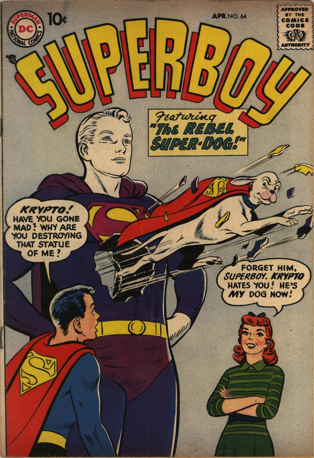 Superboy (1949) issue 64 - Page 1