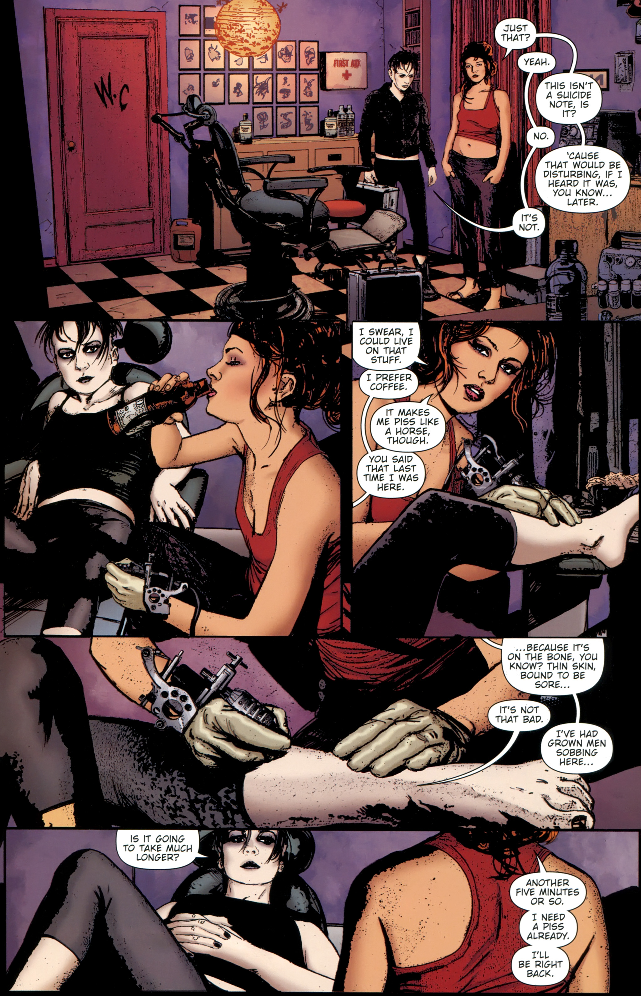 Read online The Girl With the Dragon Tattoo comic -  Issue # TPB 1 - 136