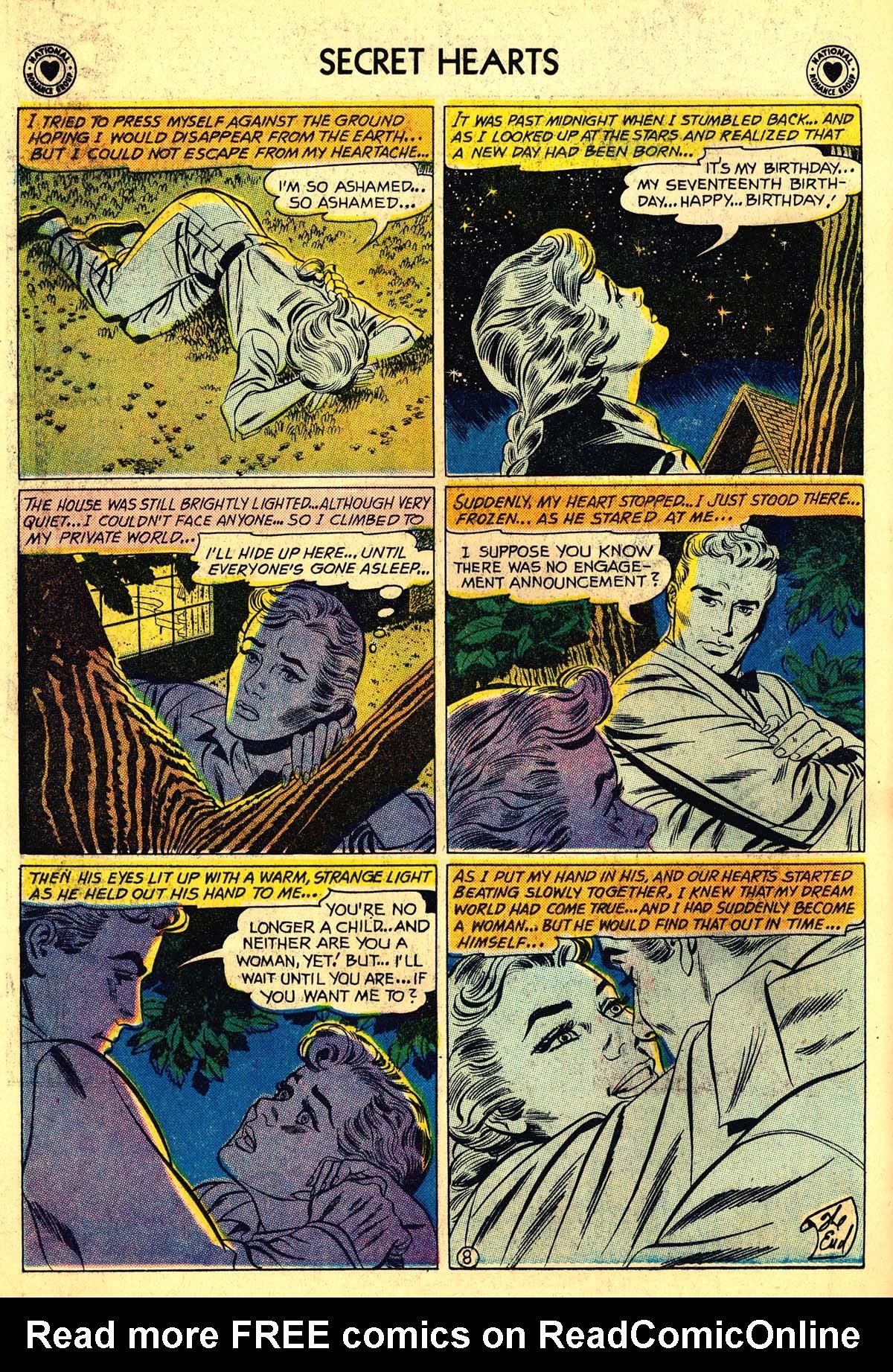 Read online Secret Hearts comic -  Issue #64 - 34