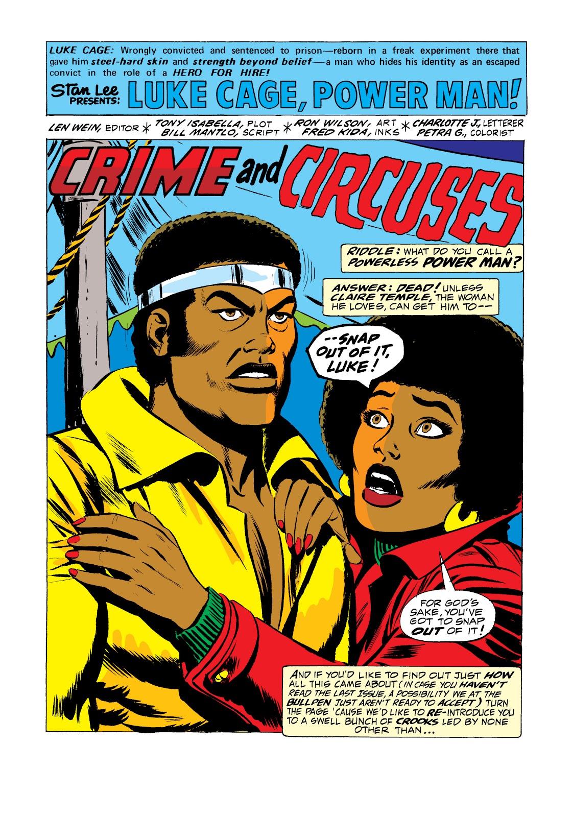 Read online Marvel Masterworks: Luke Cage, Power Man comic -  Issue # TPB 2 (Part 2) - 62