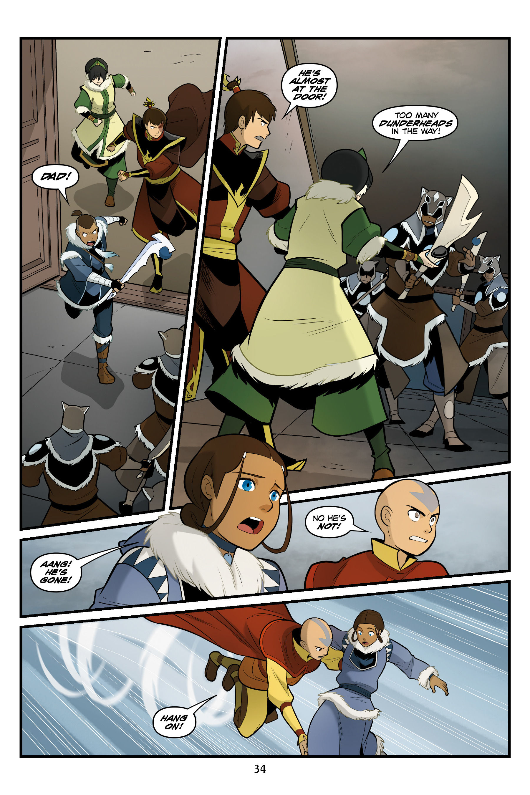 Read online Nickelodeon Avatar: The Last Airbender - North and South comic -  Issue #3 - 35