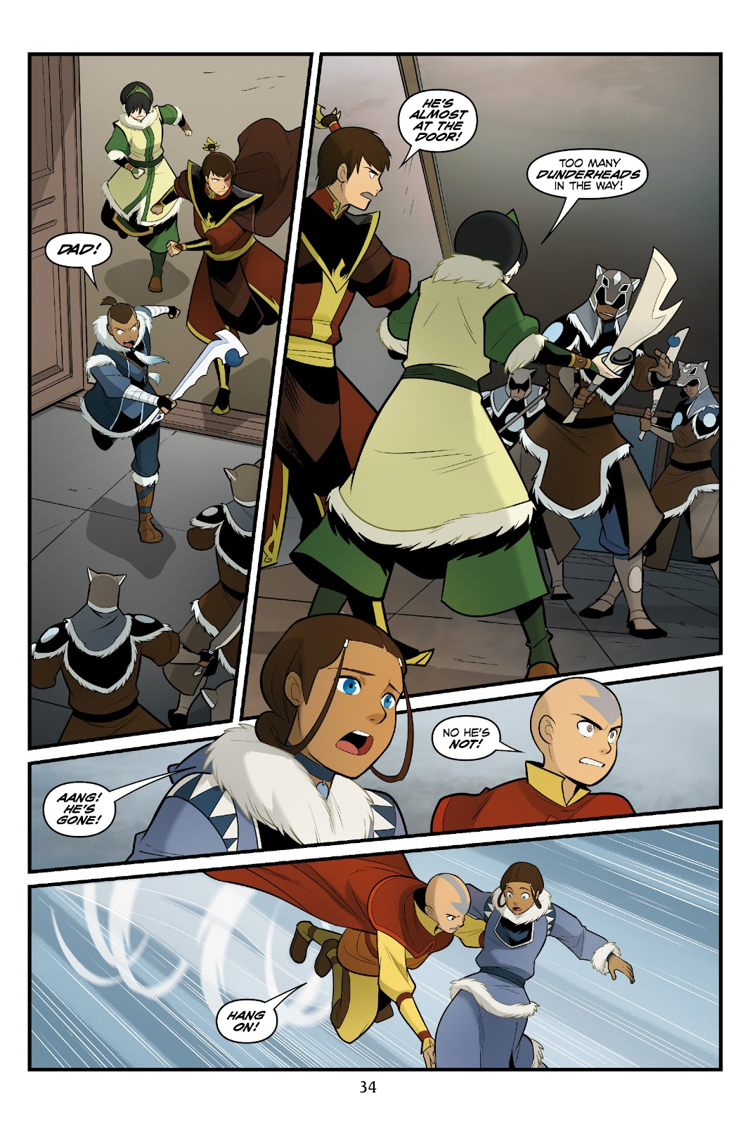 Nickelodeon Avatar: The Last Airbender - North and South issue 3 - Page 35
